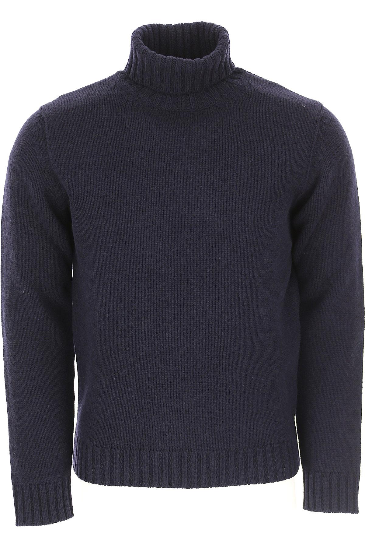 Image of Kangra Sweater for Men Jumper, Blue Navy, Extrafine Merino Wool, 2017, 2 - Uk/Usa M - Ita 48 3 - Uk/Usa L - Ita 50 4 - Uk/Usa XL - Ita 52 5 - Uk/Usa XXL - Ita 54