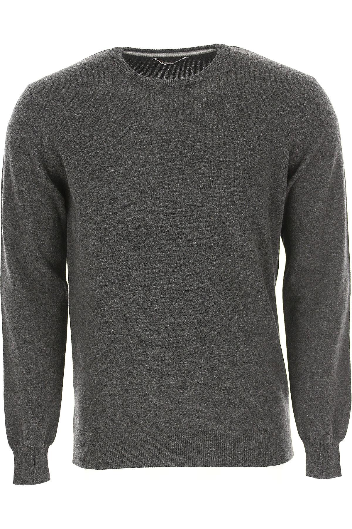 Kangra Sweater for Men Jumper On Sale, antracite, Cashemere, 2019, M XL