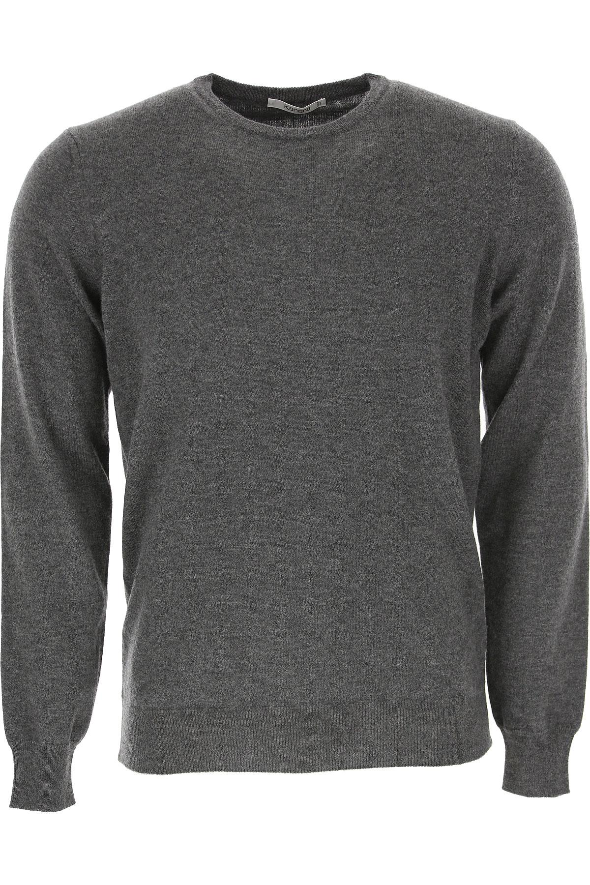 Kangra Sweater for Men Jumper On Sale, Grey, Merinos Wool, 2019, XL XXL XXXL