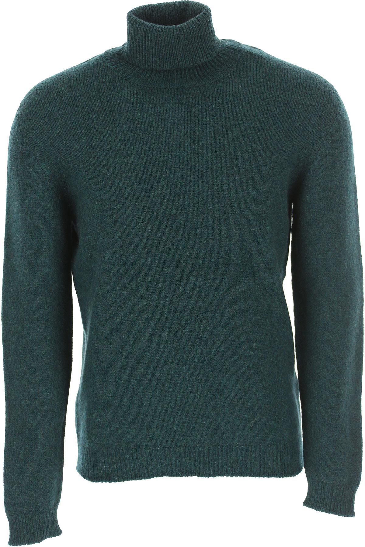 Kangra Sweater for Men Jumper On Sale, Bottle Green, Wool, 2019, S XL
