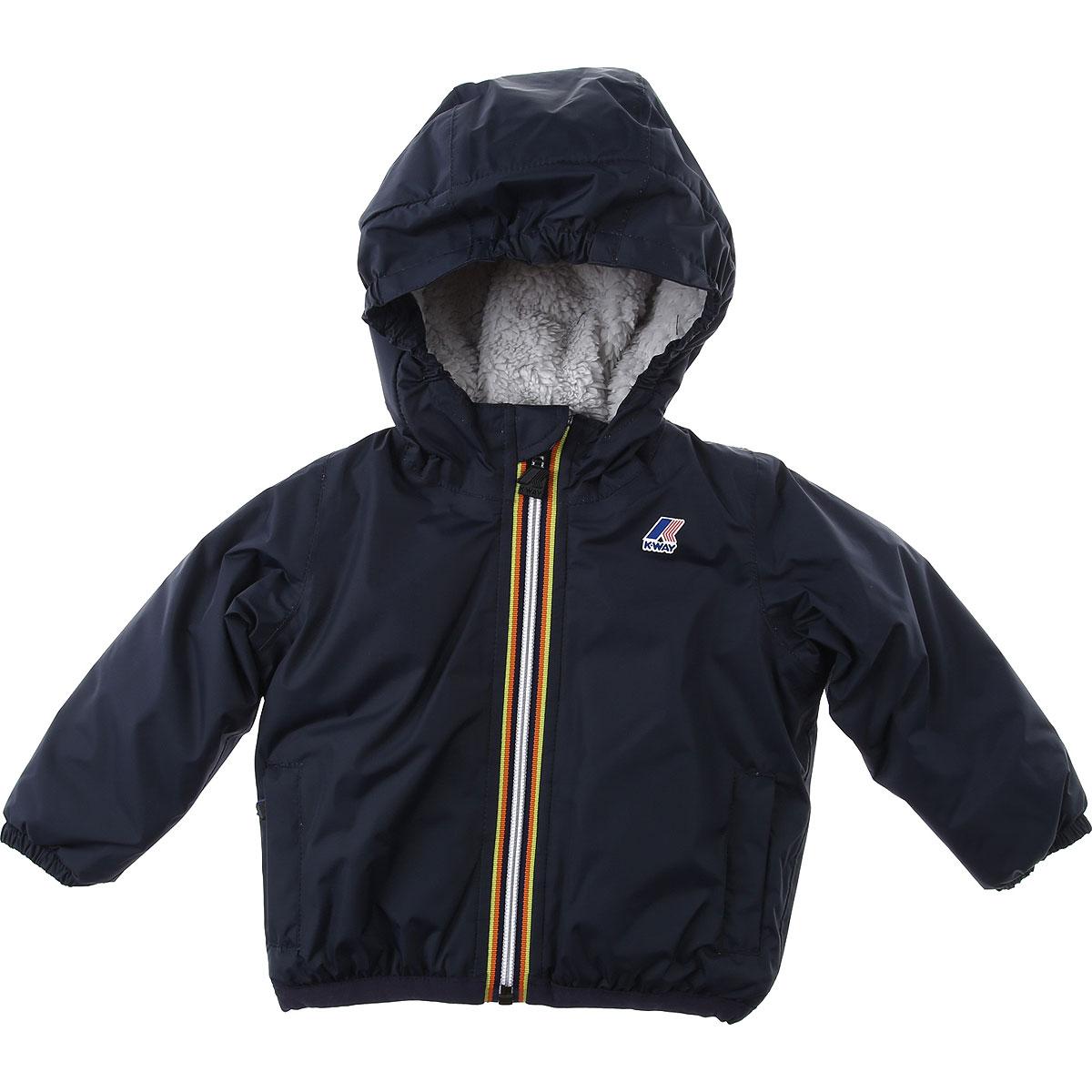 K-Way Baby Jacket for Boys On Sale, Depht Blue, polyamide, 2019, 12 M 18M 6M