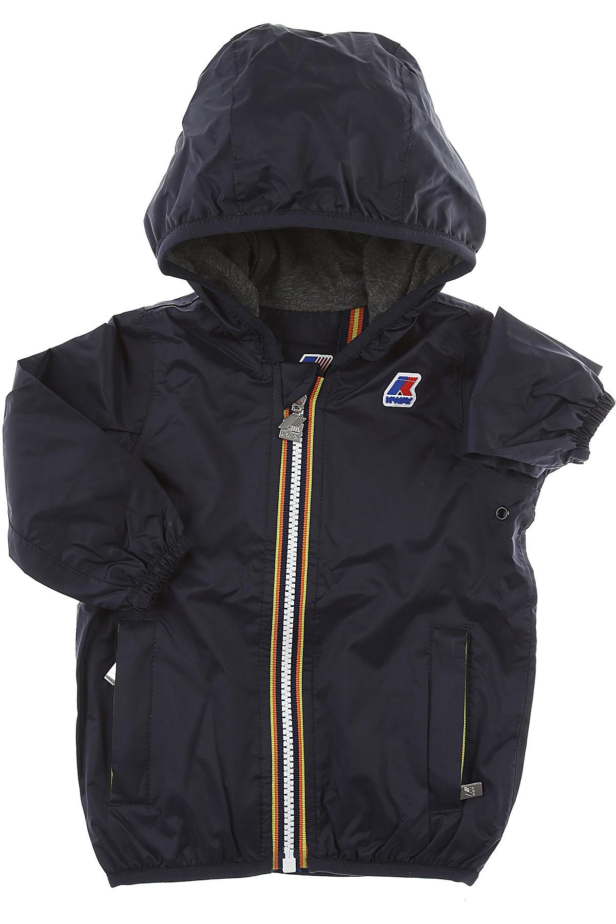 K-Way Baby Jacket for Boys On Sale, navy, polyamide, 2019, 12 M 6M