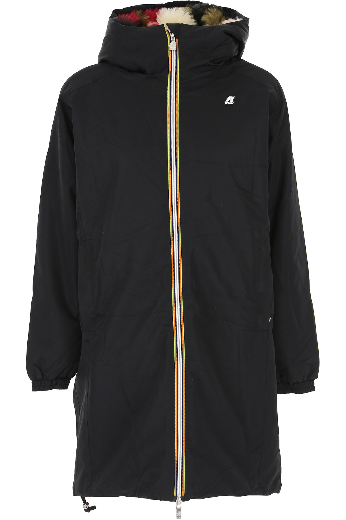K-Way Down Jacket for Women, Puffer Ski Jacket On Sale, Black, polyestere, 2019, 44