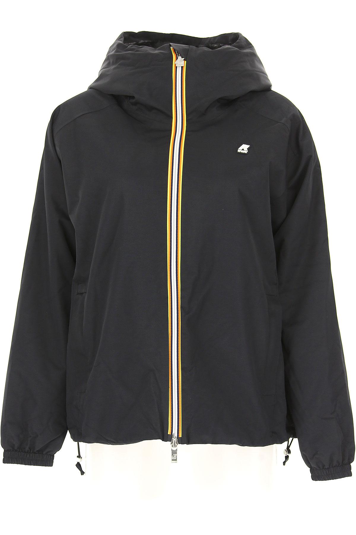 K-Way Down Jacket for Women, Puffer Ski Jacket On Sale, Black, Down, 2019, 40 44
