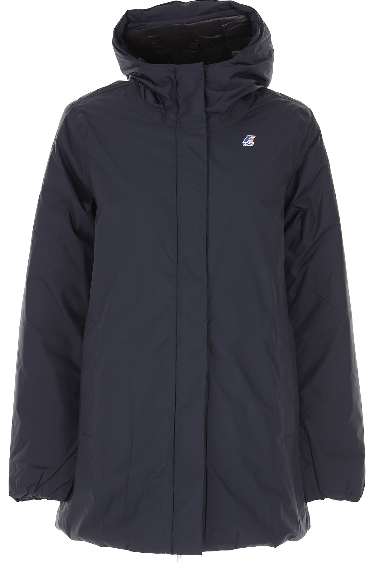 K-Way Down Jacket for Women, Puffer Ski Jacket On Sale, Ink Blue, polyamide, 2019, 44 46