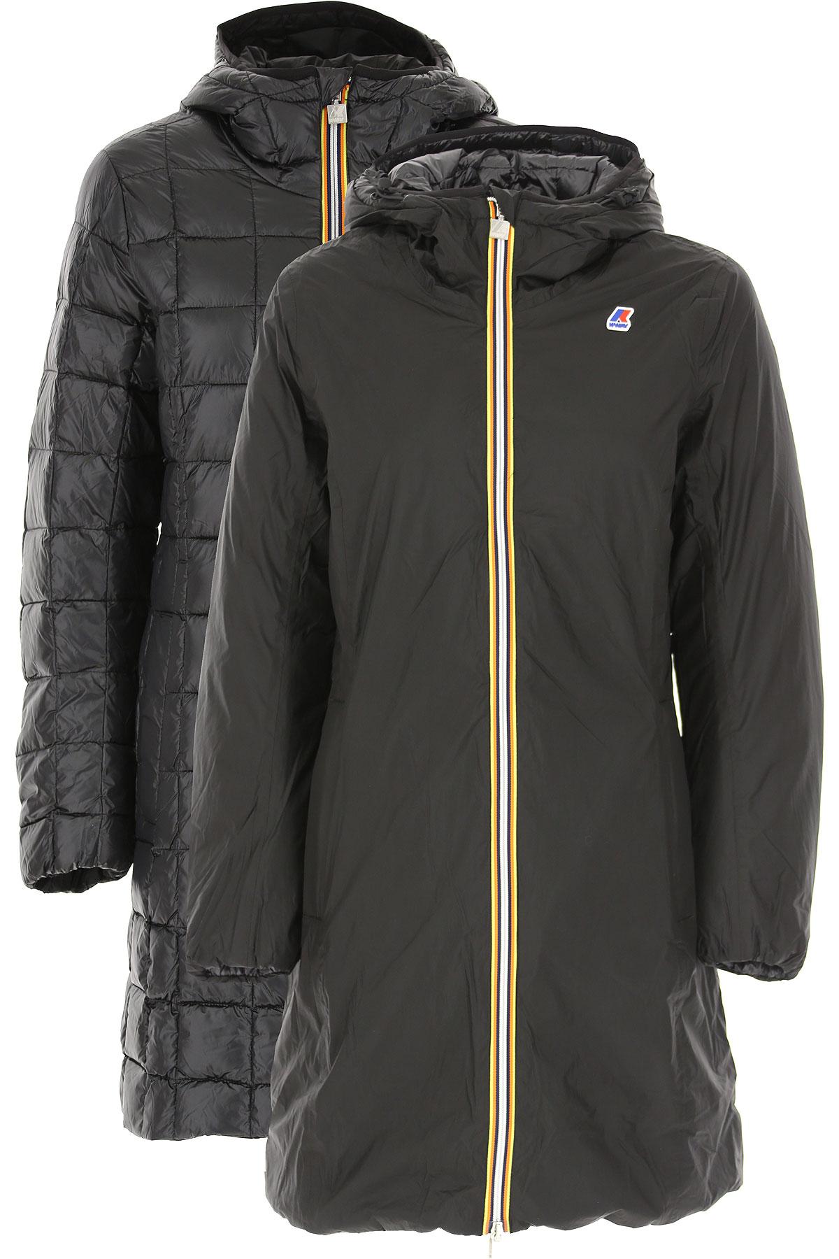 K-Way Down Jacket for Women, Puffer Ski Jacket, Black, polyamide, 2019, 40 46