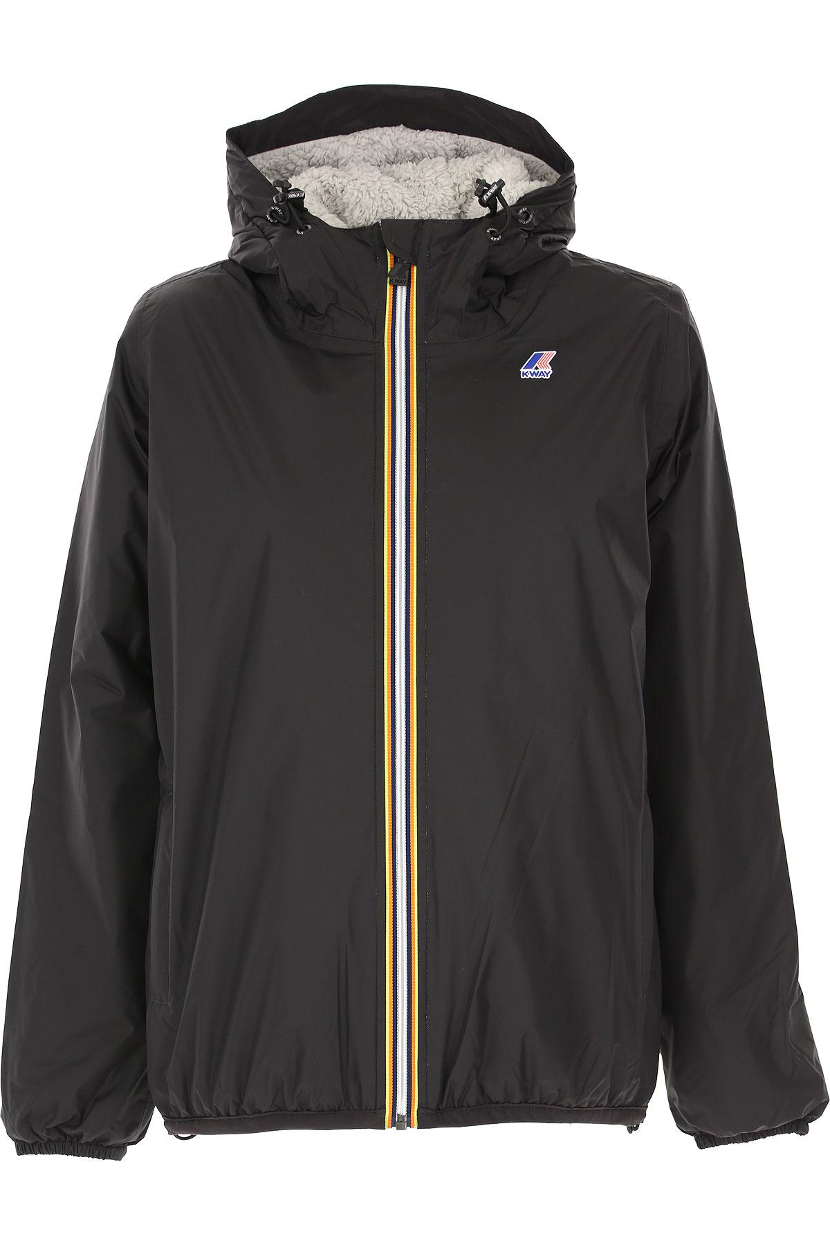 K-Way Down Jacket for Women, Puffer Ski Jacket On Sale, Black, polyamide, 2019, 44
