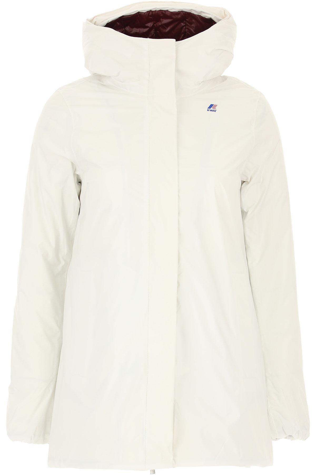 K-Way Down Jacket for Women, Puffer Ski Jacket On Sale, White, polyamide, 2019, 40 44
