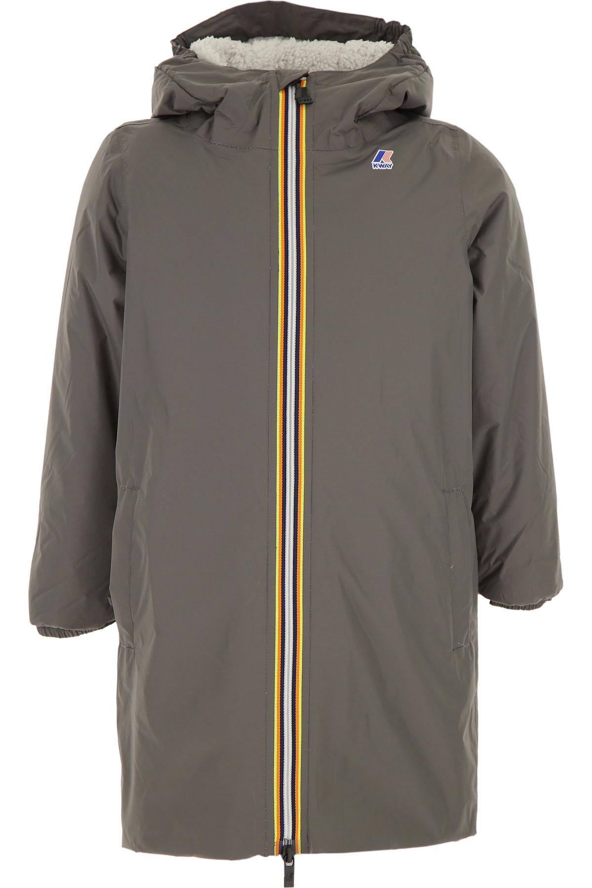 K-Way Boys Down Jacket for Kids, Puffer Ski Jacket On Sale, Grey, polyamide, 2019, 10Y 12Y 14Y 16Y 6Y 8Y