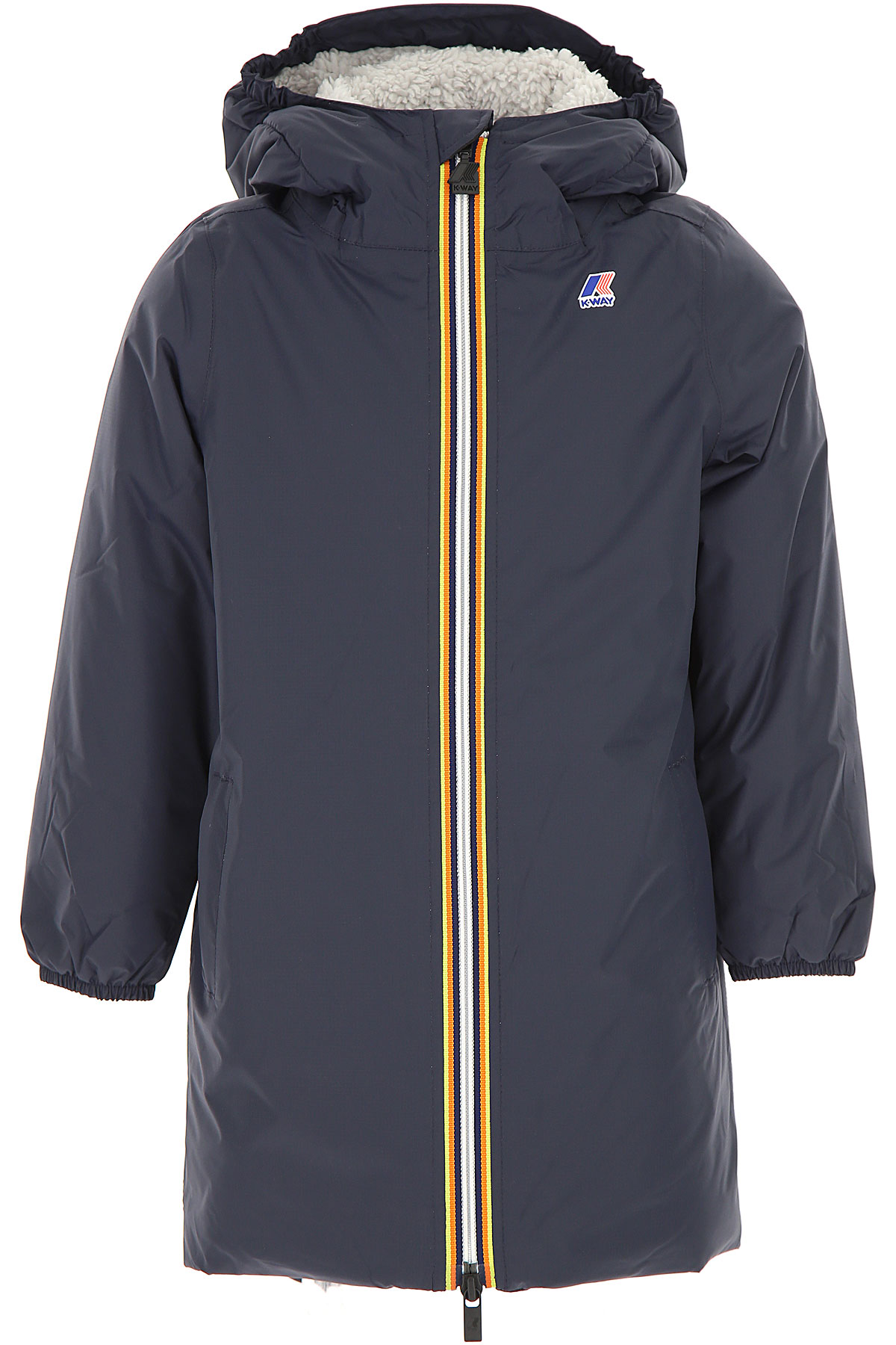 Image of K-Way Boys Down Jacket for Kids, Puffer Ski Jacket, Blue, polyamide, 2017, 4Y 6Y 8Y