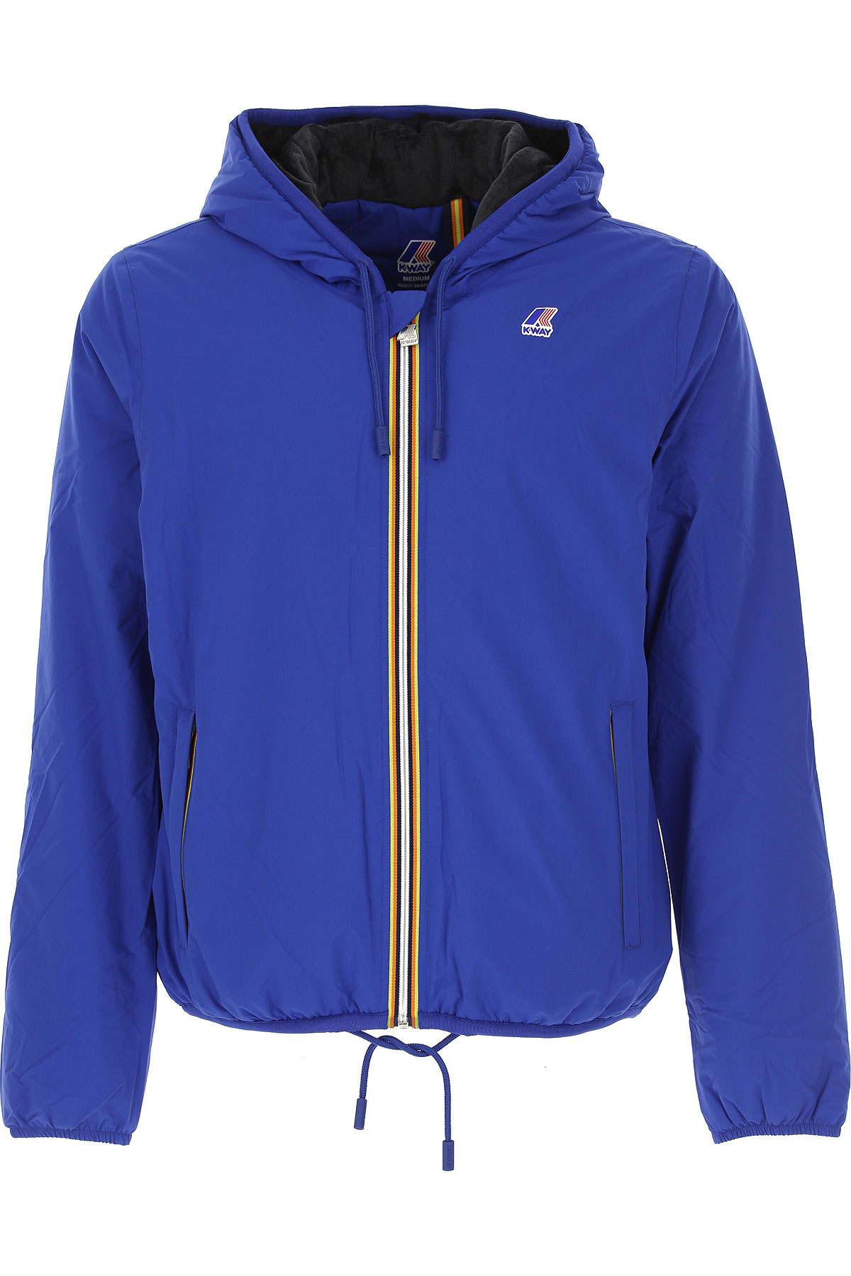 K-Way Down Jacket for Men, Puffer Ski Jacket On Sale, Electric Blue, polyamide, 2019, L M S XXL