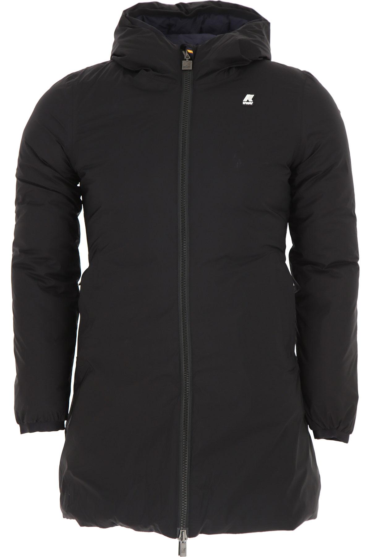 Image of K-Way Down Jacket for Men, Puffer Ski Jacket, Black, polyamide, 2017, L M XL