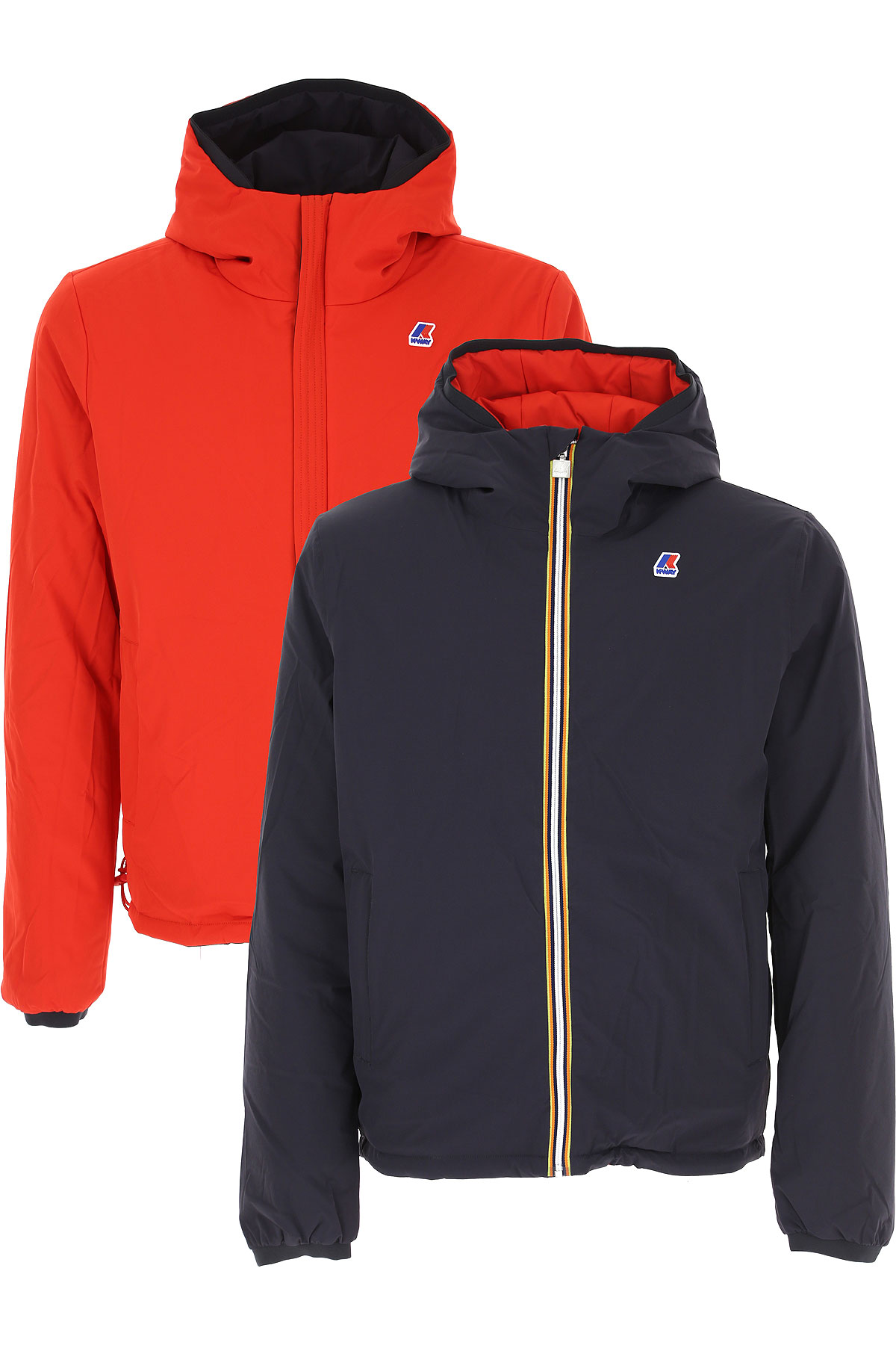 K-Way Down Jacket for Men, Puffer Ski Jacket On Sale, Ink Blue, polyamide, 2019, L M S XL XXL