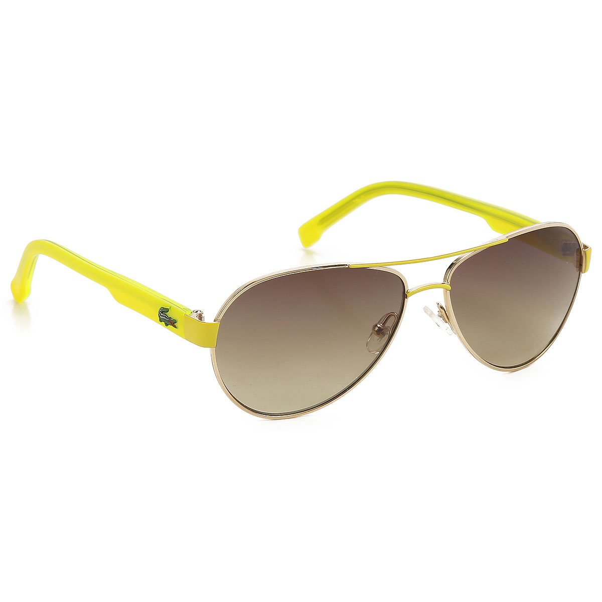 Image of Lacoste Kids Sunglasses for Boys On Sale, fluo yellow, 2017, One size one size