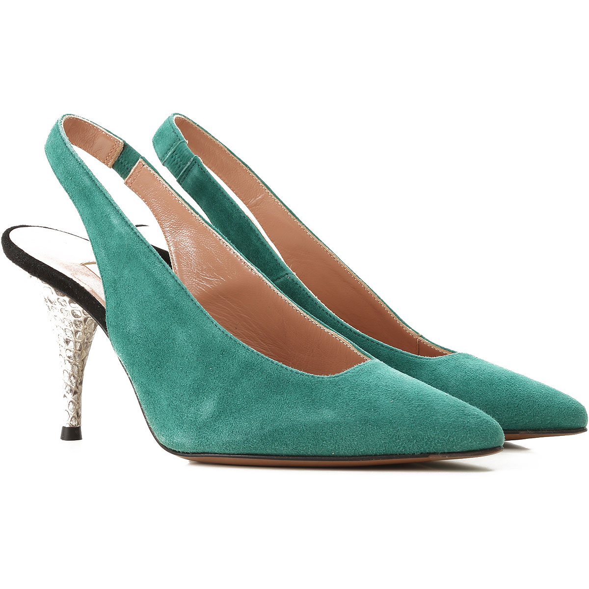 Lautre Chose Pumps & High Heels for Women On Sale in Outlet, Green, Calfskin Leather, 2019, 6 8 9