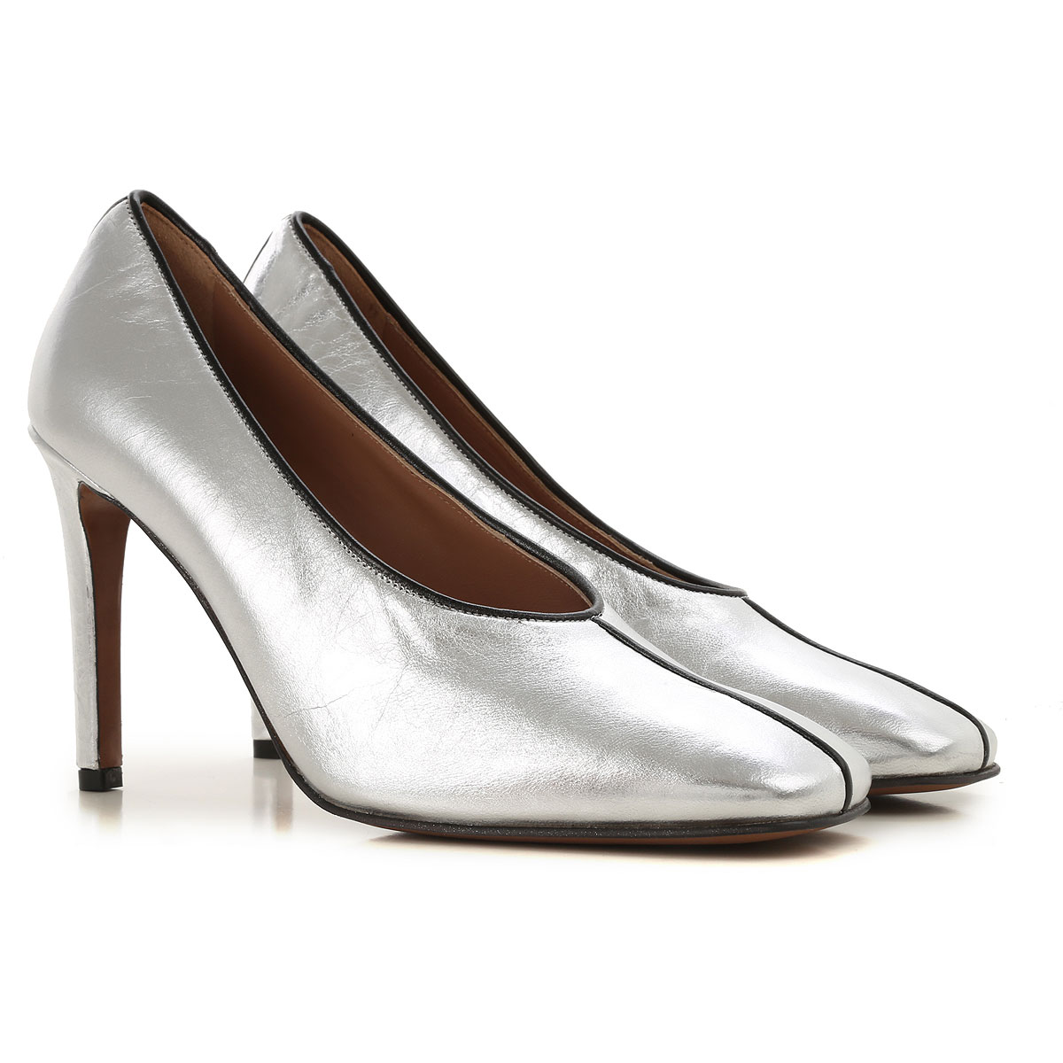 Lautre Chose Pumps & High Heels for Women On Sale in Outlet, Silver, Leather, 2019, 10 6 6.5 7 8