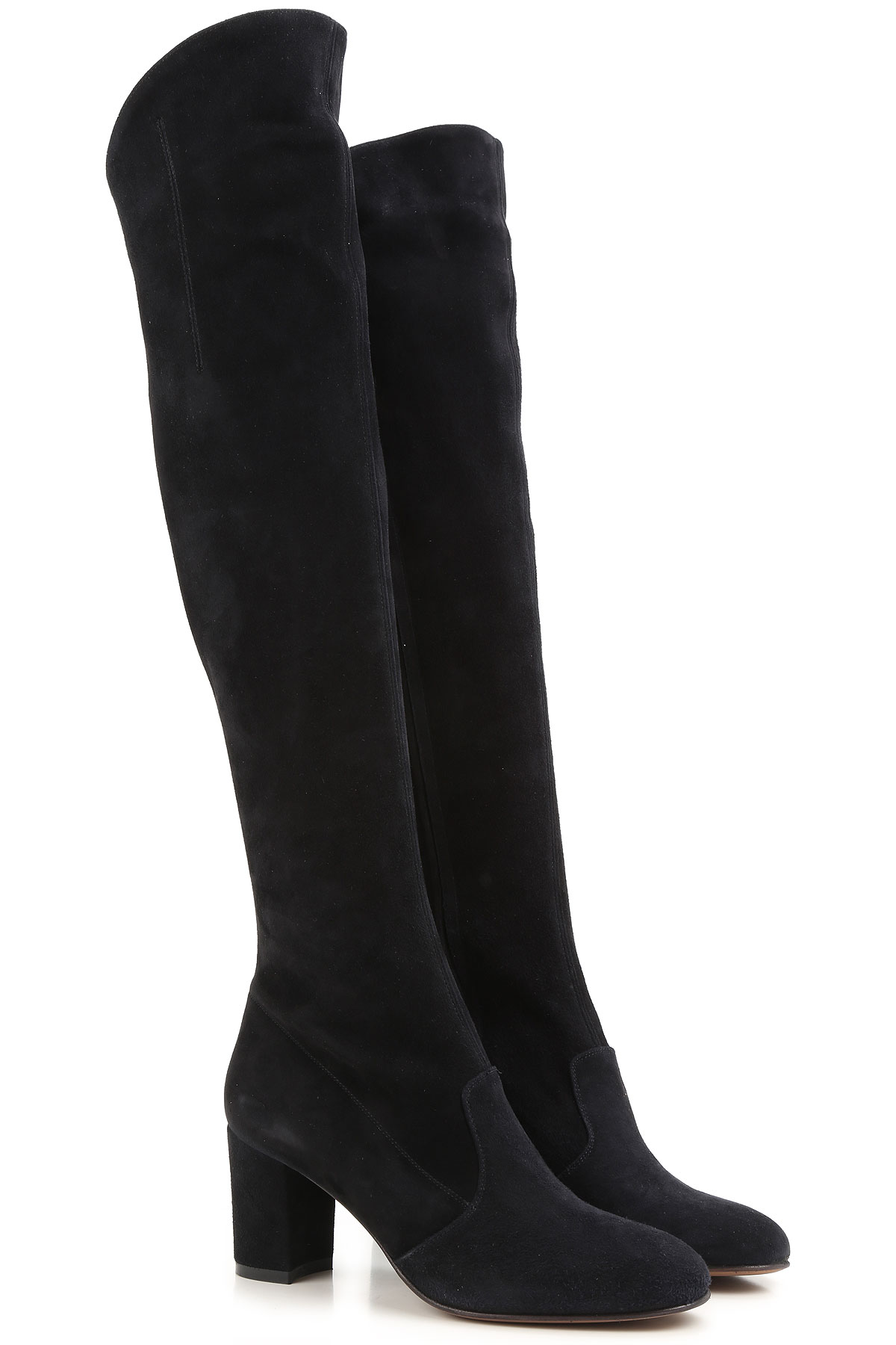 Image of Lautre Chose Boots for Women, Booties On Sale, Black, Suede leather, 2017, 10 7