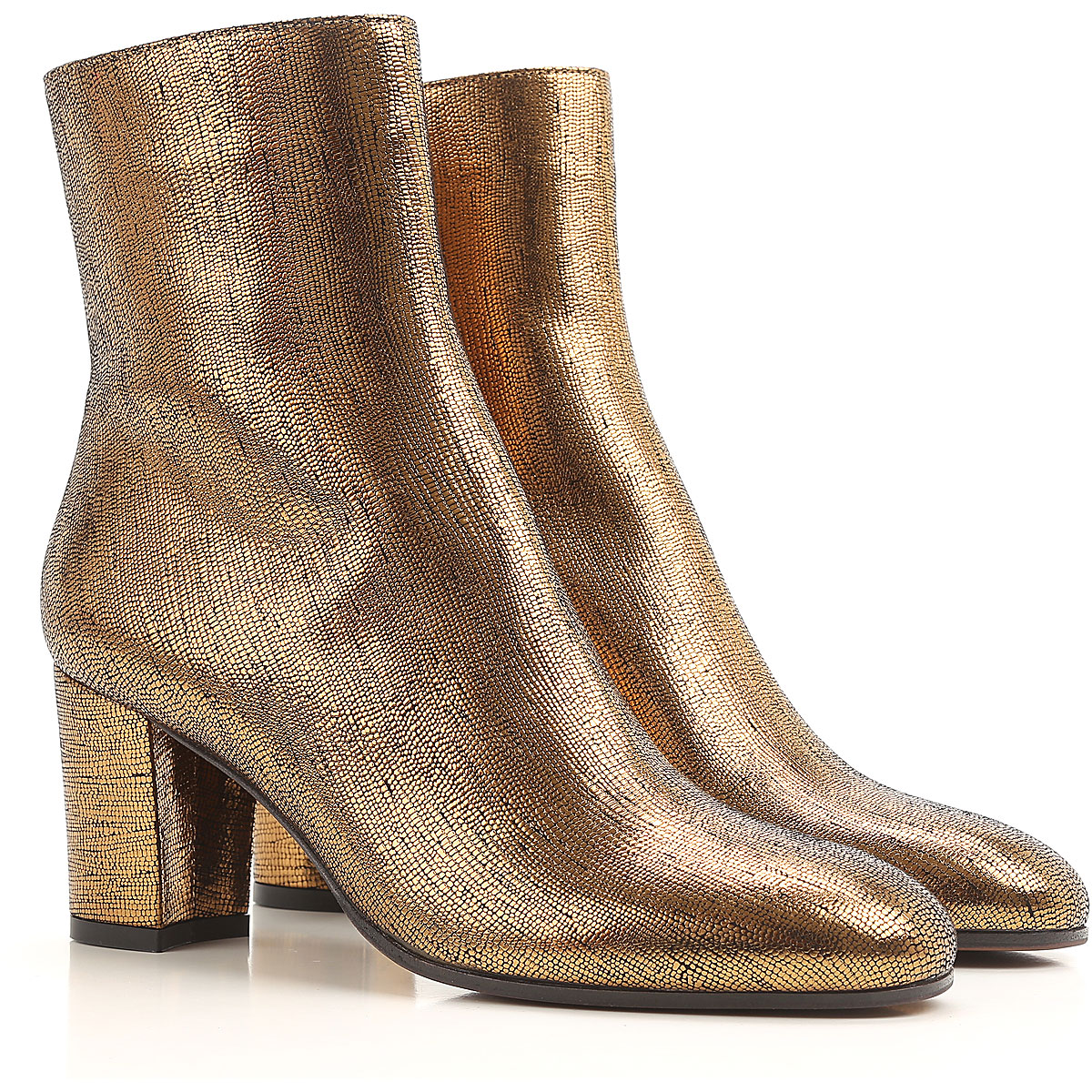 Image of Lautre Chose Boots for Women, Booties On Sale, Bronze, Leather, 2017, 7 8 9.5