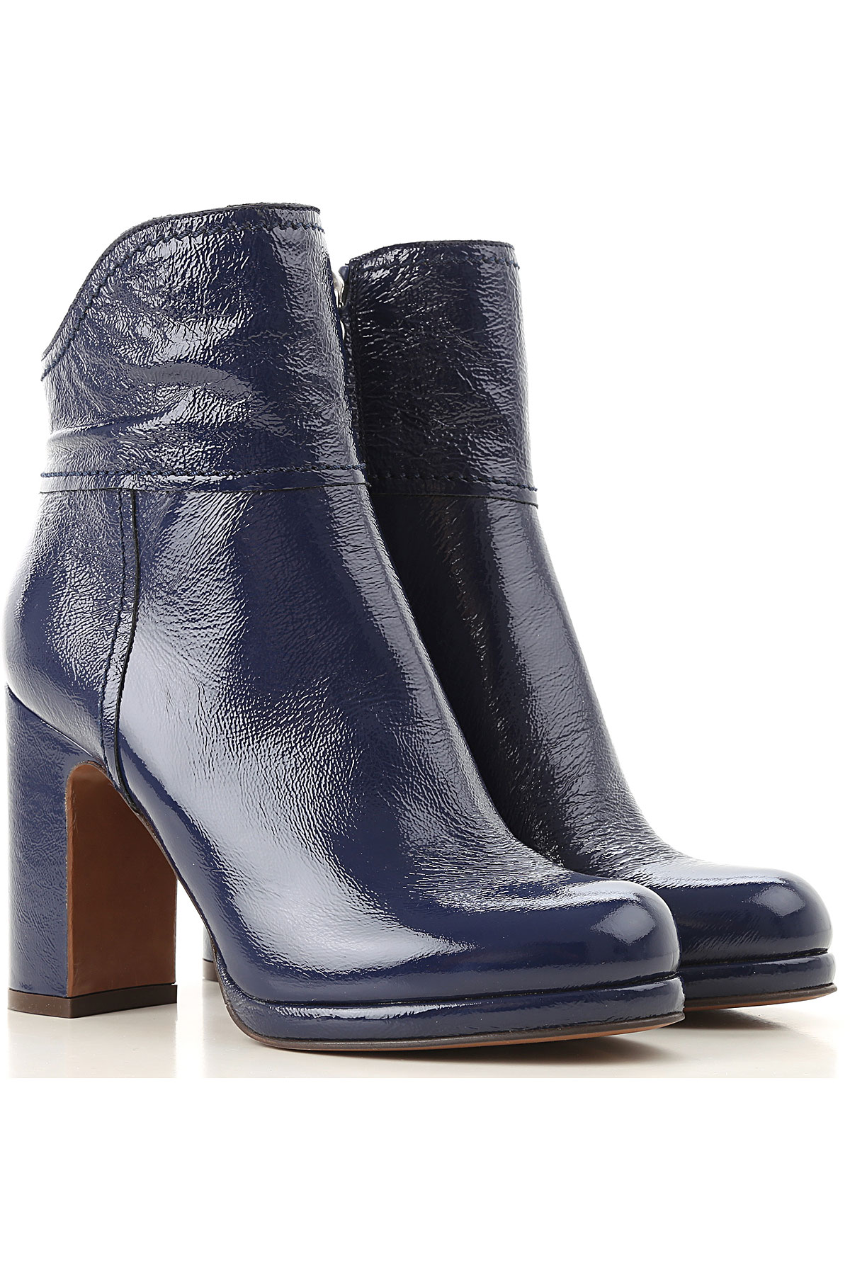 Image of Lautre Chose Boots for Women, Booties, navy, Naplak, 2017, 10 6 7 8