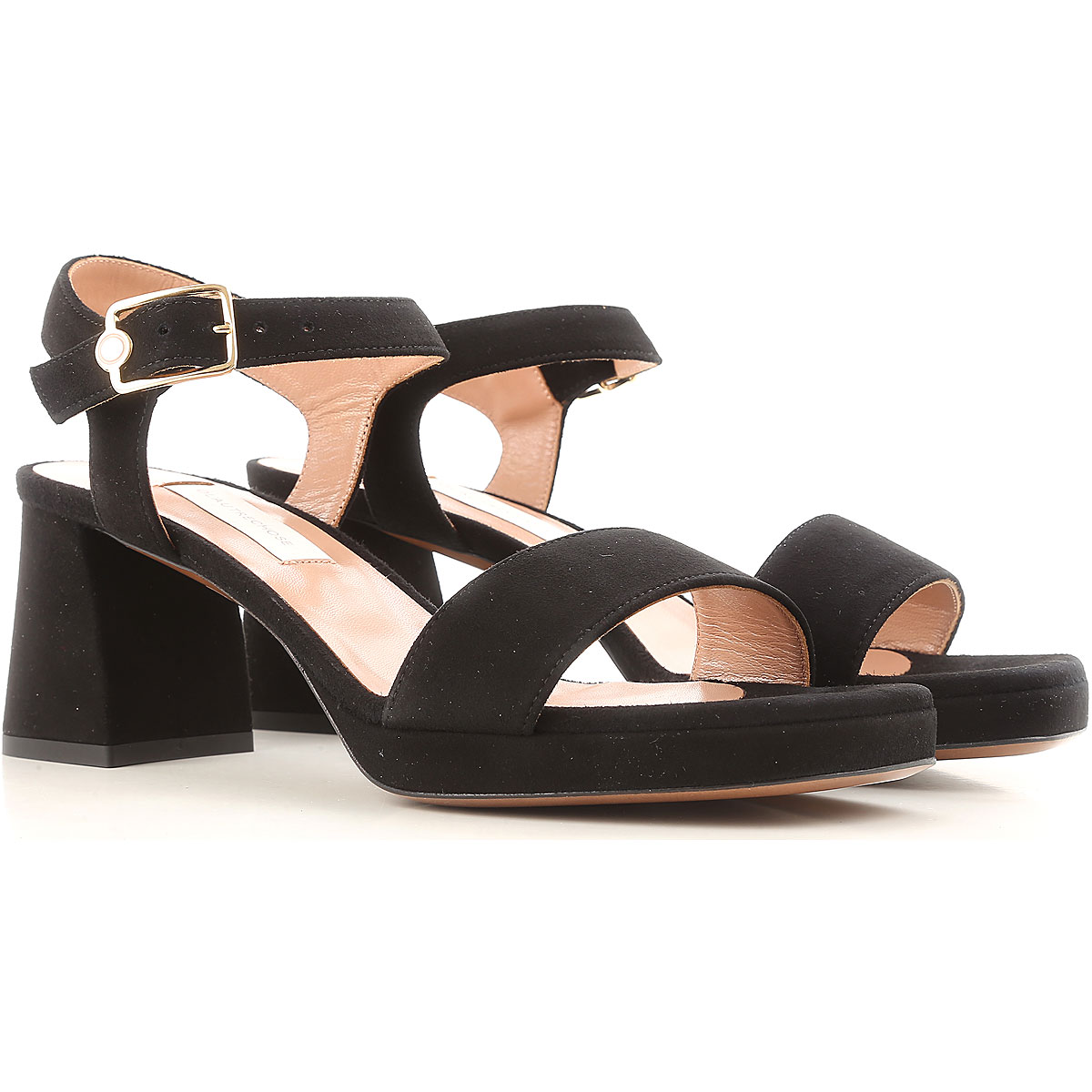 Lautre Chose Sandals for Women On Sale in Outlet, Black, Suede leather, 2019, 5 6