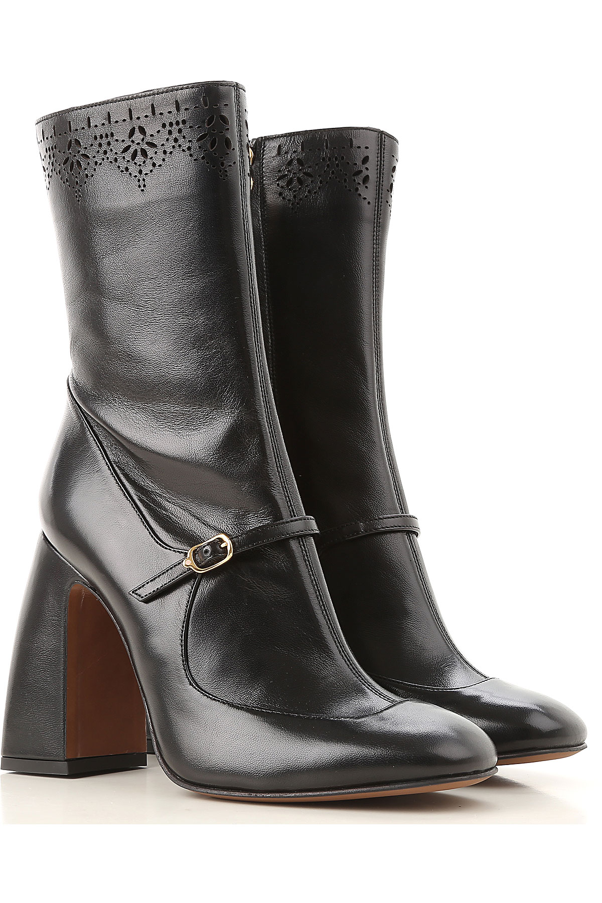 Image of Lautre Chose Boots for Women, Booties, Black, Leather, 2017, 6 7 8 9