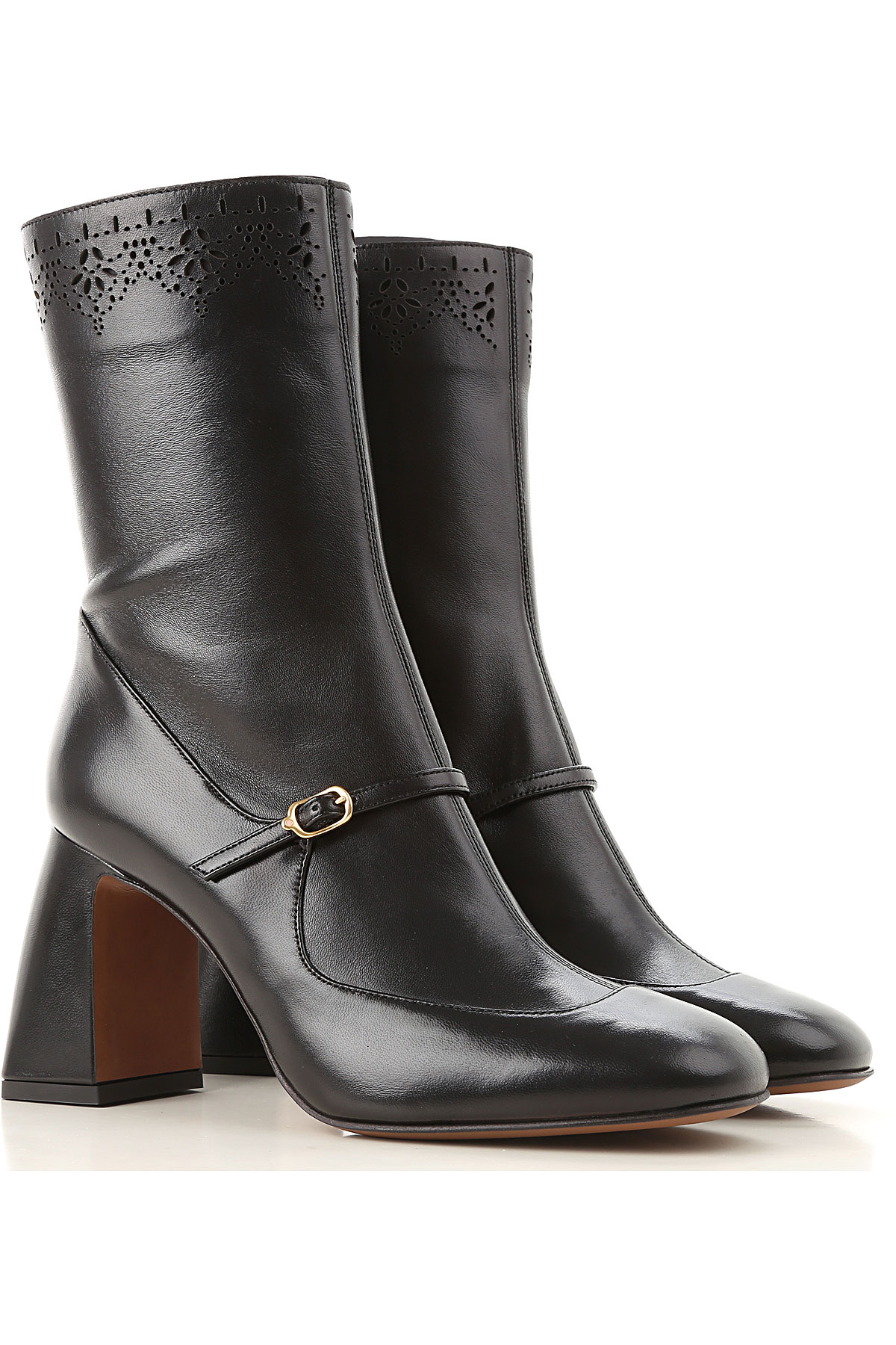 Image of Lautre Chose Boots for Women, Booties, Black, Leather, 2017, 10 6 7 8 9