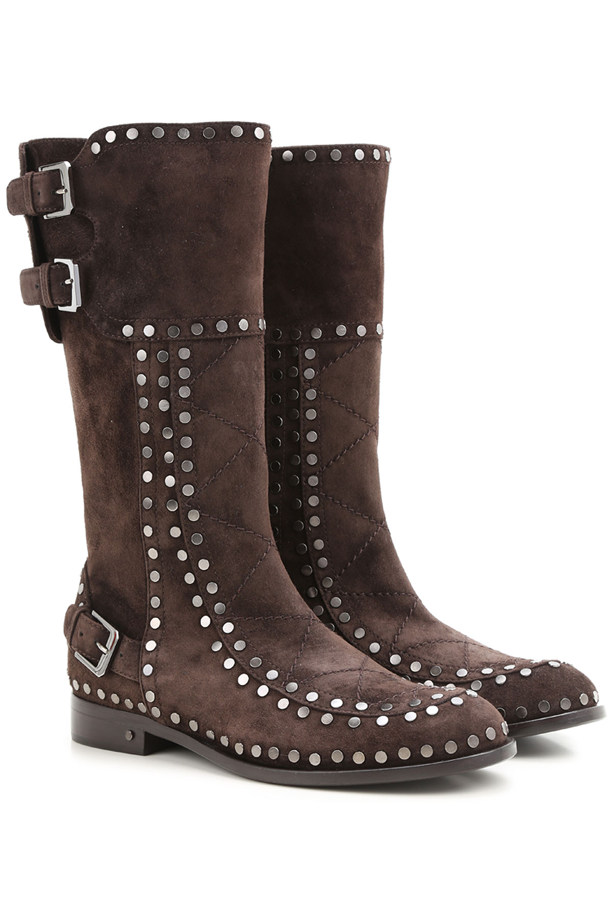 Image of Laurence Dacade Boots for Women, Booties, Dark Brown, Suede leather, 2017, 10.5 8 8.5