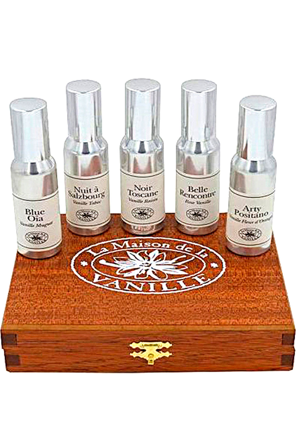 La Maison de la Vanille Fragrances for Women On Sale, Continental Spirit Vanilles Du Monde - Luxury Wooden Coffret - 5 X 30 Ml, 2019, 5 x 30 ml