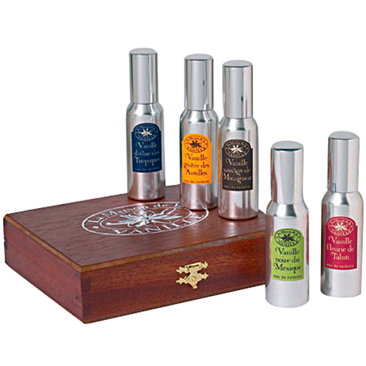 La Maison de la Vanille Fragrances for Women On Sale, Vanilles Du Monde - Luxury Wooden Coffret - 5 X 30 Ml, 2019, 5 x 30 ml