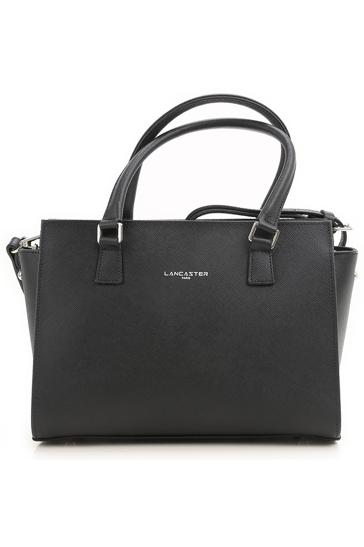 Image of Lancaster Top Handle Handbag, Black, Leather, 2017