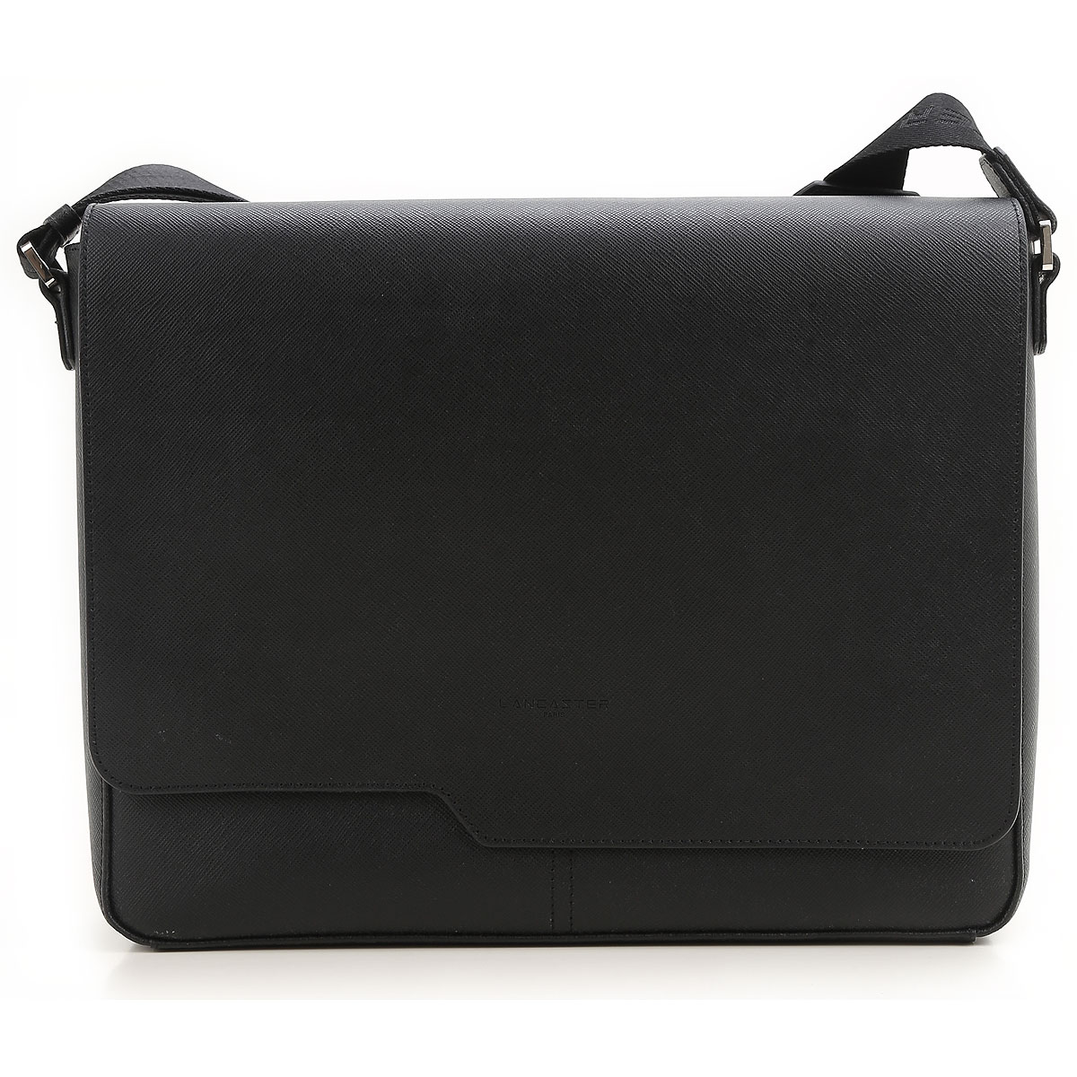 Image of Lancaster Briefcase for Men, Black, Leather, 2017