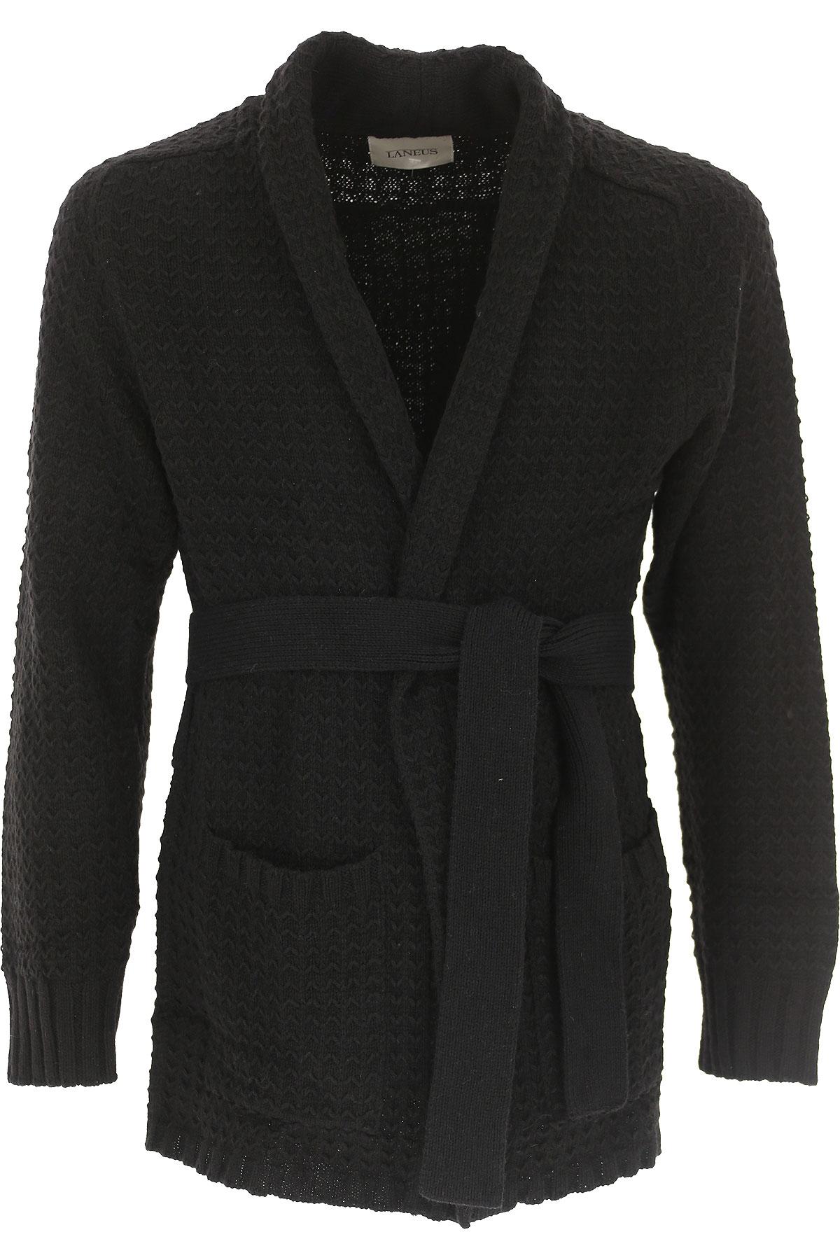 Image of Laneus Sweater for Men Jumper, Black, alpaca, 2017, M S XL