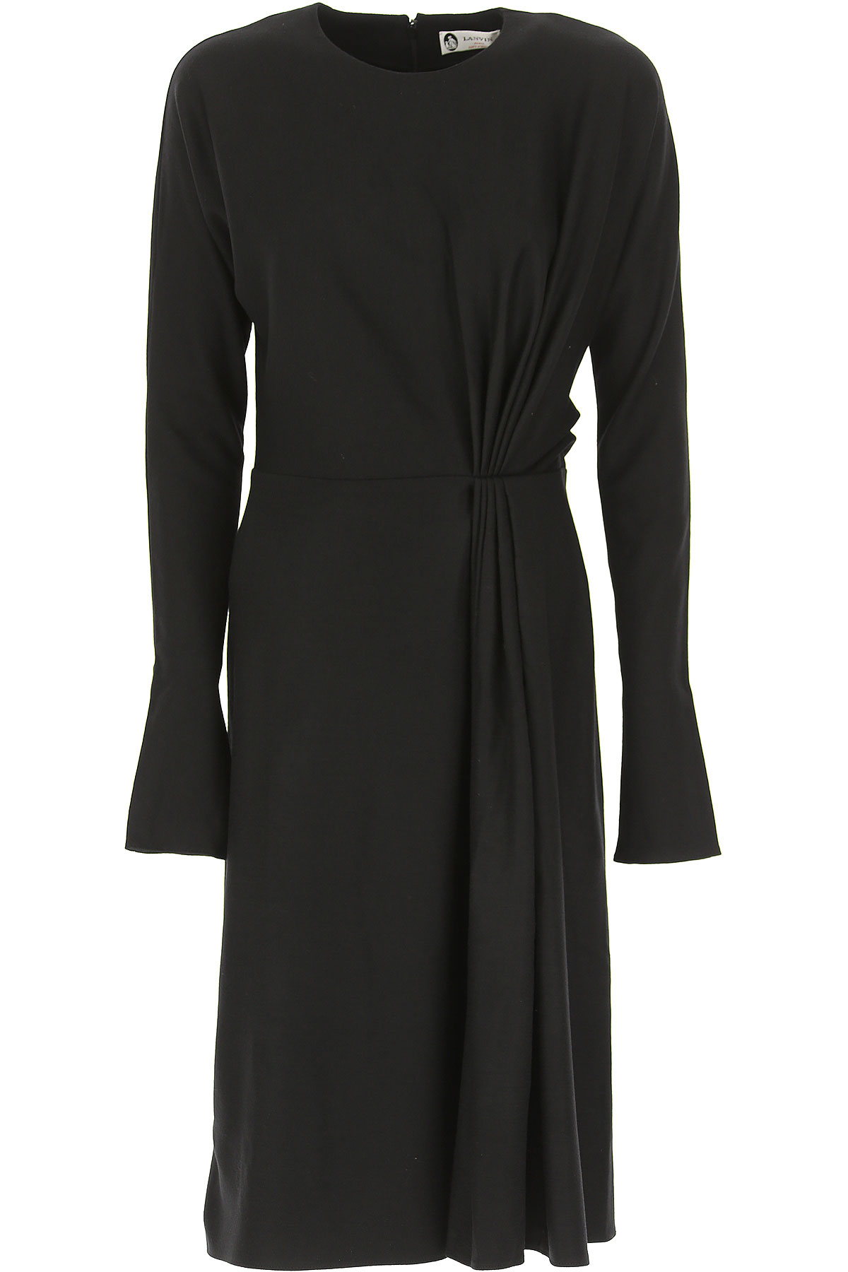 Lanvin Dress for Women, Evening Cocktail Party, Black, Wool, 2017, 2 6 USA-472775