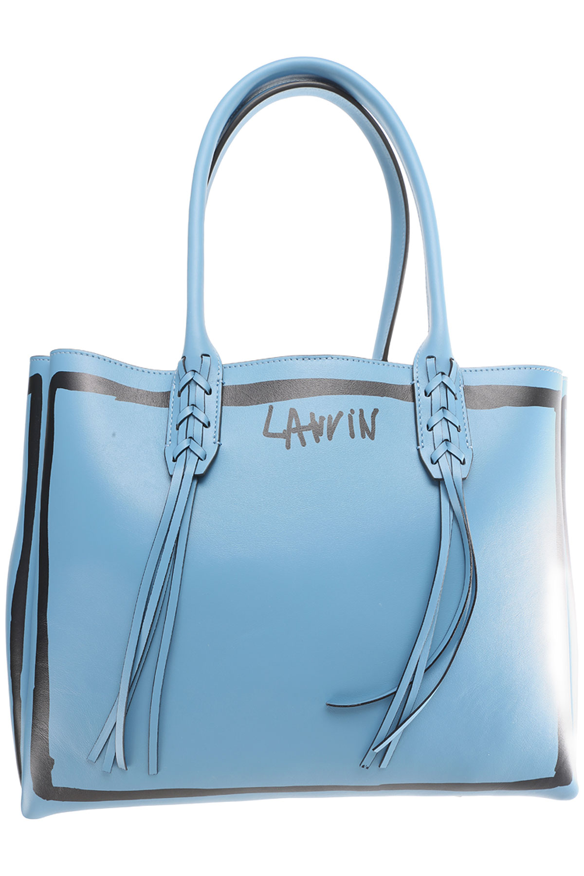 Lanvin Tote Bag On Sale in Outlet, Sky, Leather, 2017