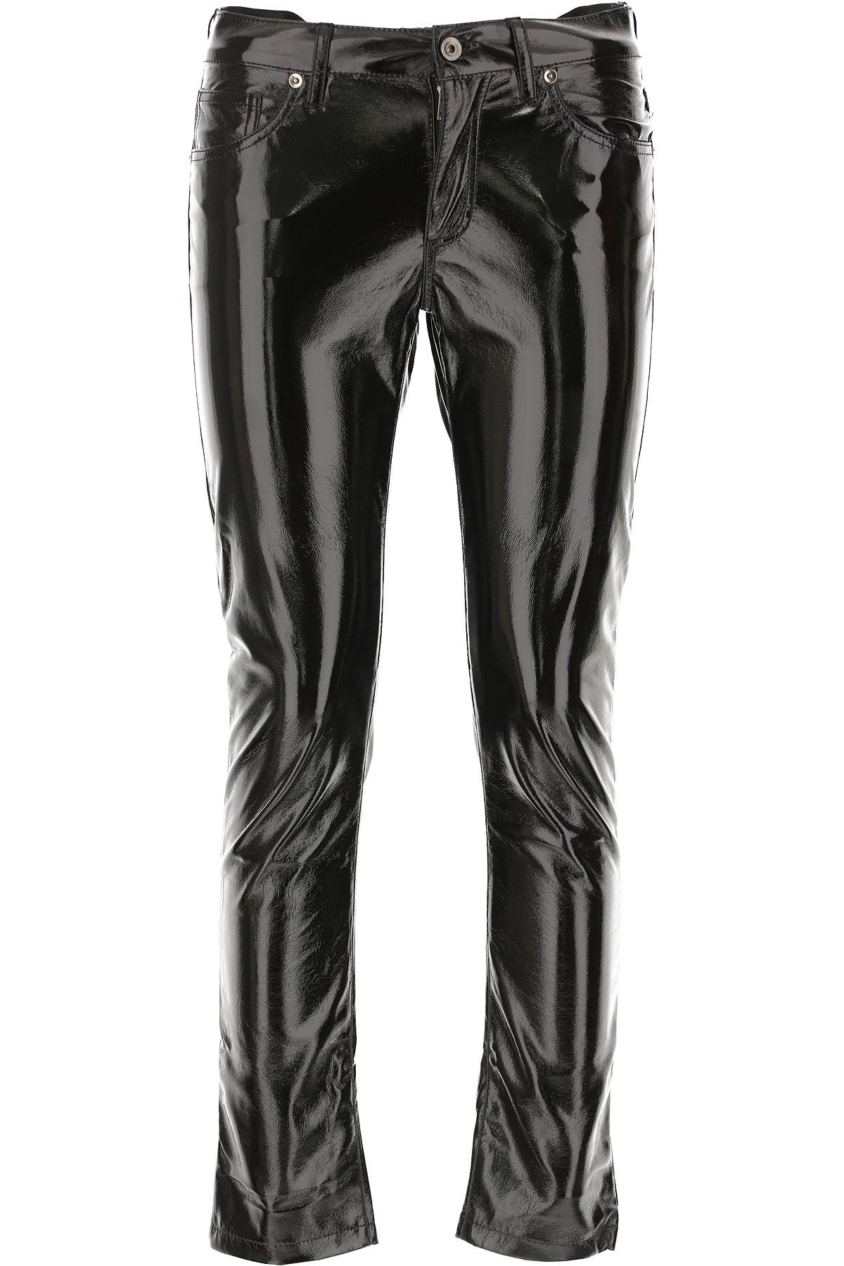 Image of Laneus Pants for Women, Vinyl Black, polyester, 2017, 26 28 30