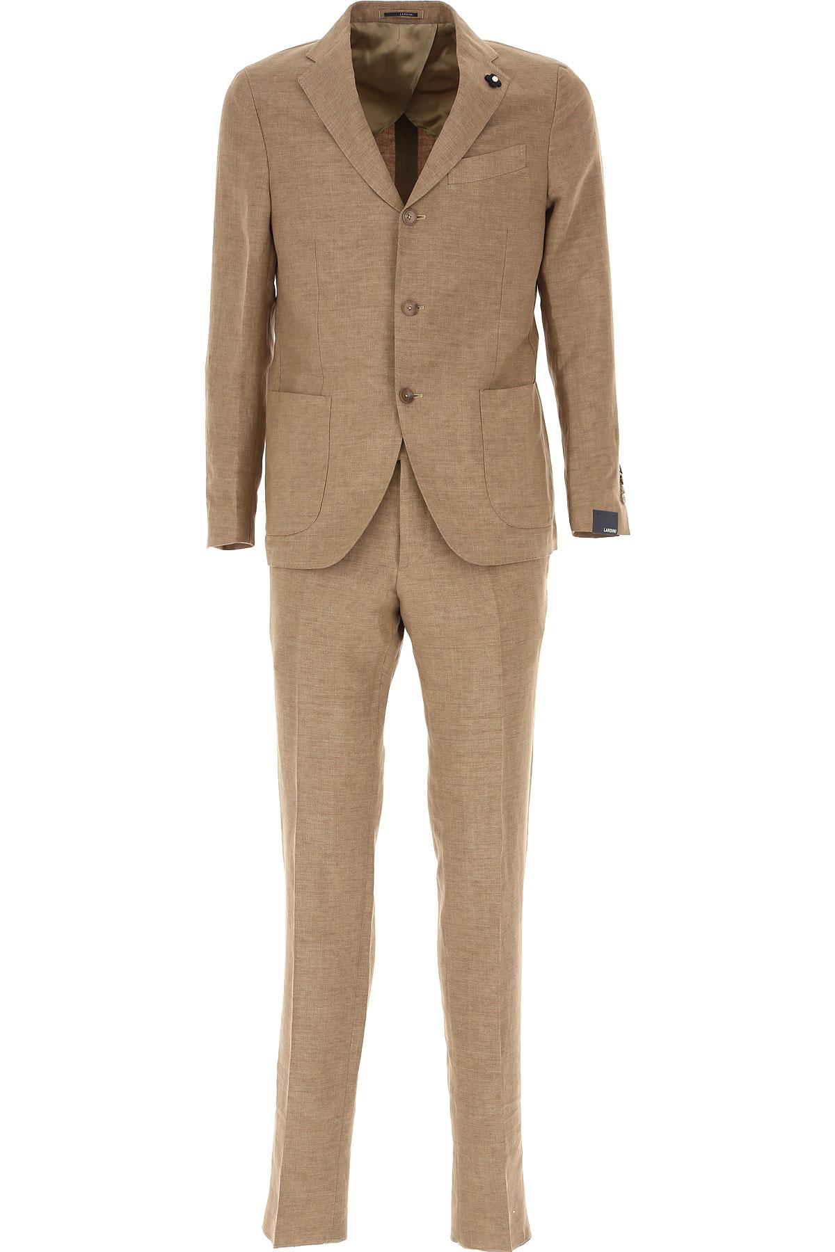 Lardini Costume Homme Pas Cher En Soldes, Beige, Lin, 2019, L M XL XXL