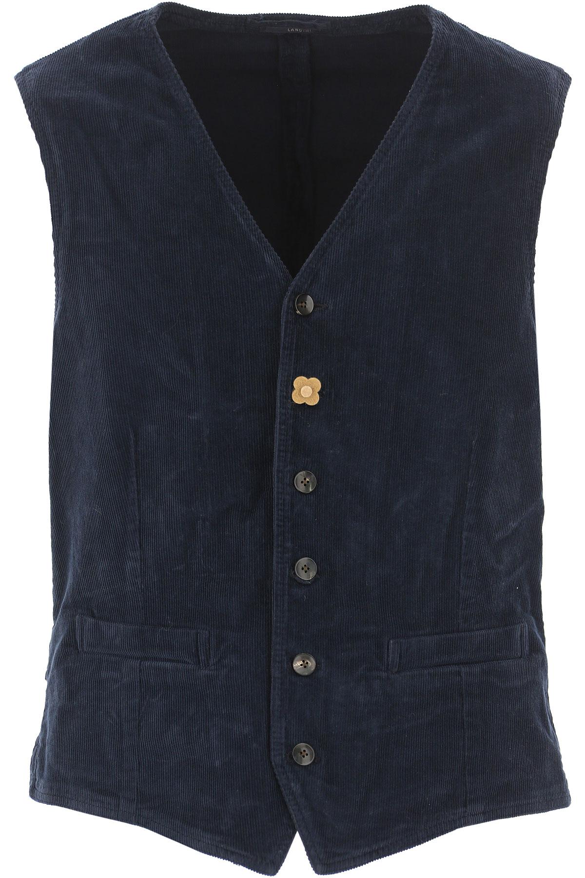Image of Lardini Jacket for Men, Navy Blue, Cotton, 2017, XL XXL