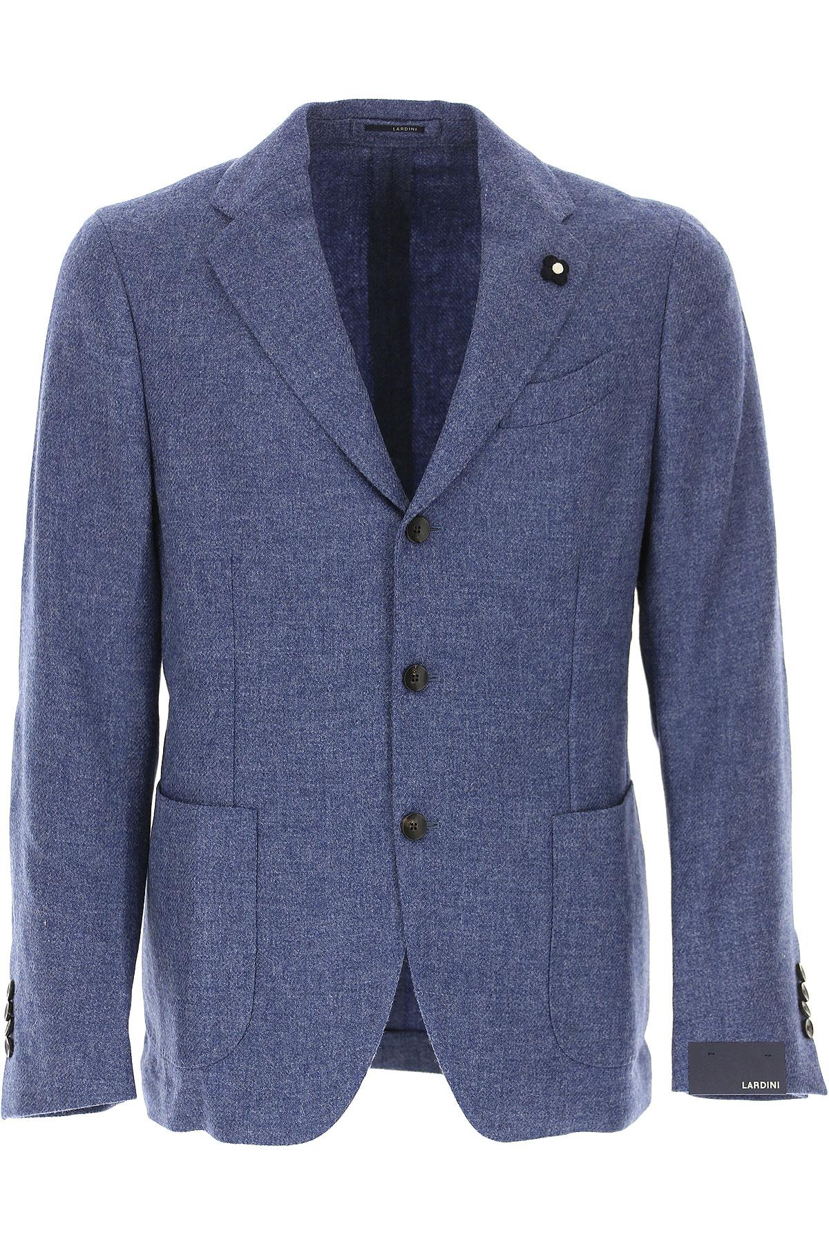 Image of Lardini Blazer for Men, Sport Coat, Blue, Wool, 2017, L M S XL XXXL