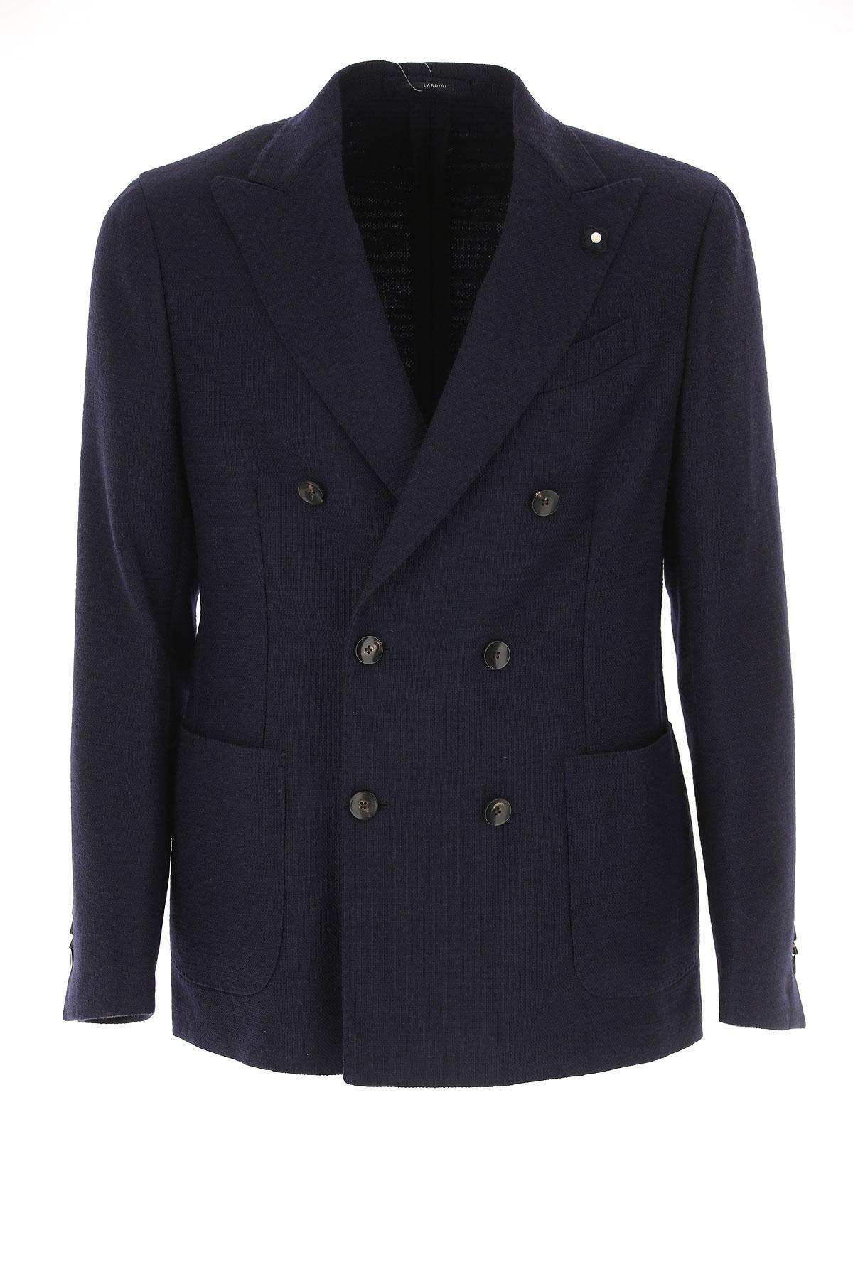 Image of Lardini Blazer for Men, Sport Coat, Blue Ink, Wool, 2017, L M XL XXL