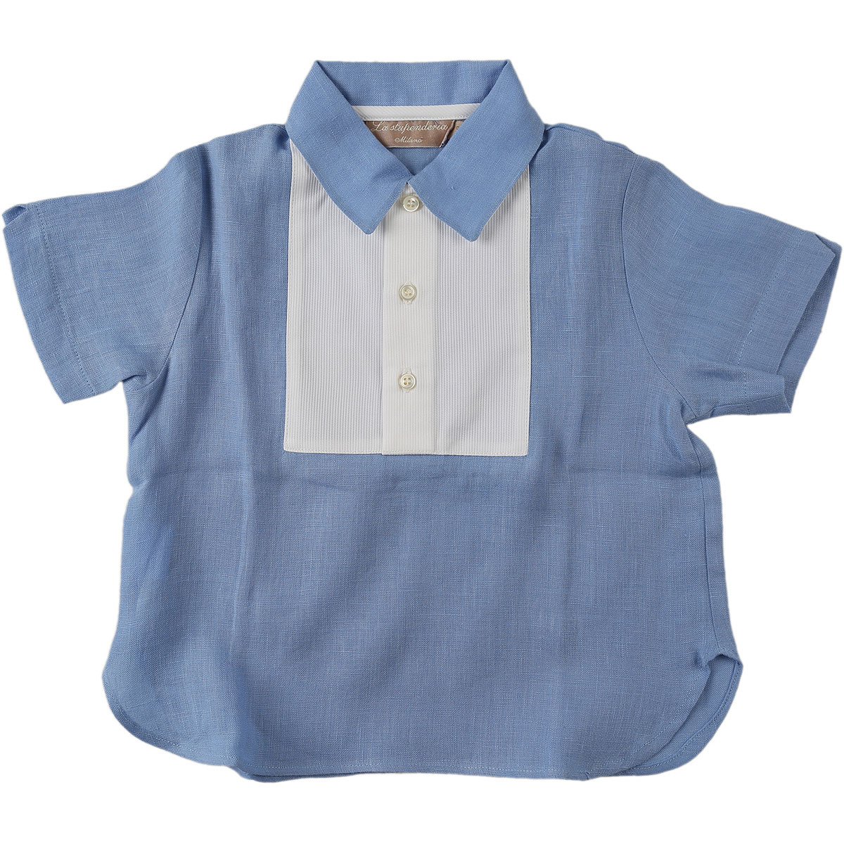 Image of La Stupenderia Baby T-Shirt for Boys On Sale in Outlet, Blue, linen, 2017, 18M 6M 9M