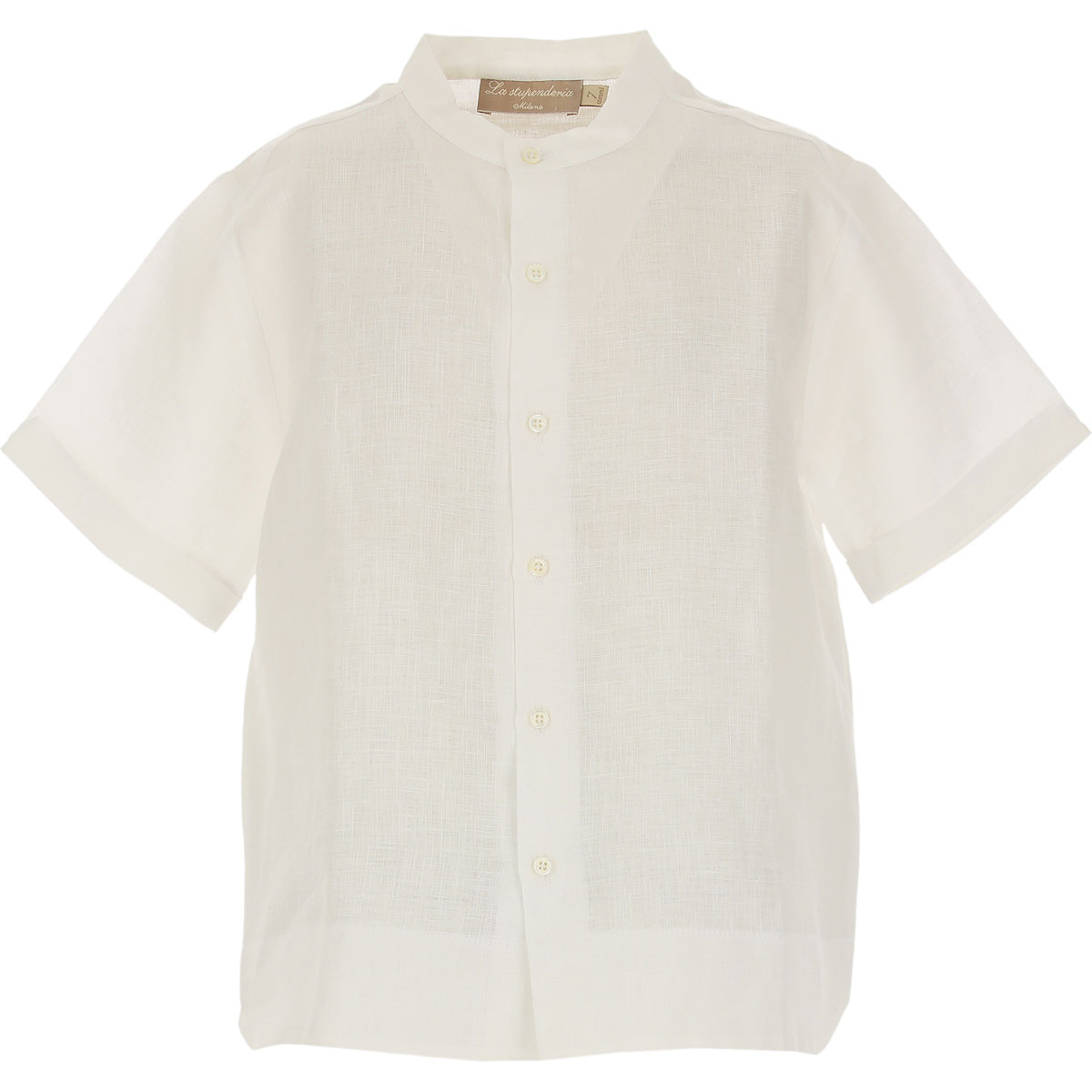 La Stupenderia Kids Shirts for Boys On Sale in Outlet, White, linen, 2019, 7Y 8Y