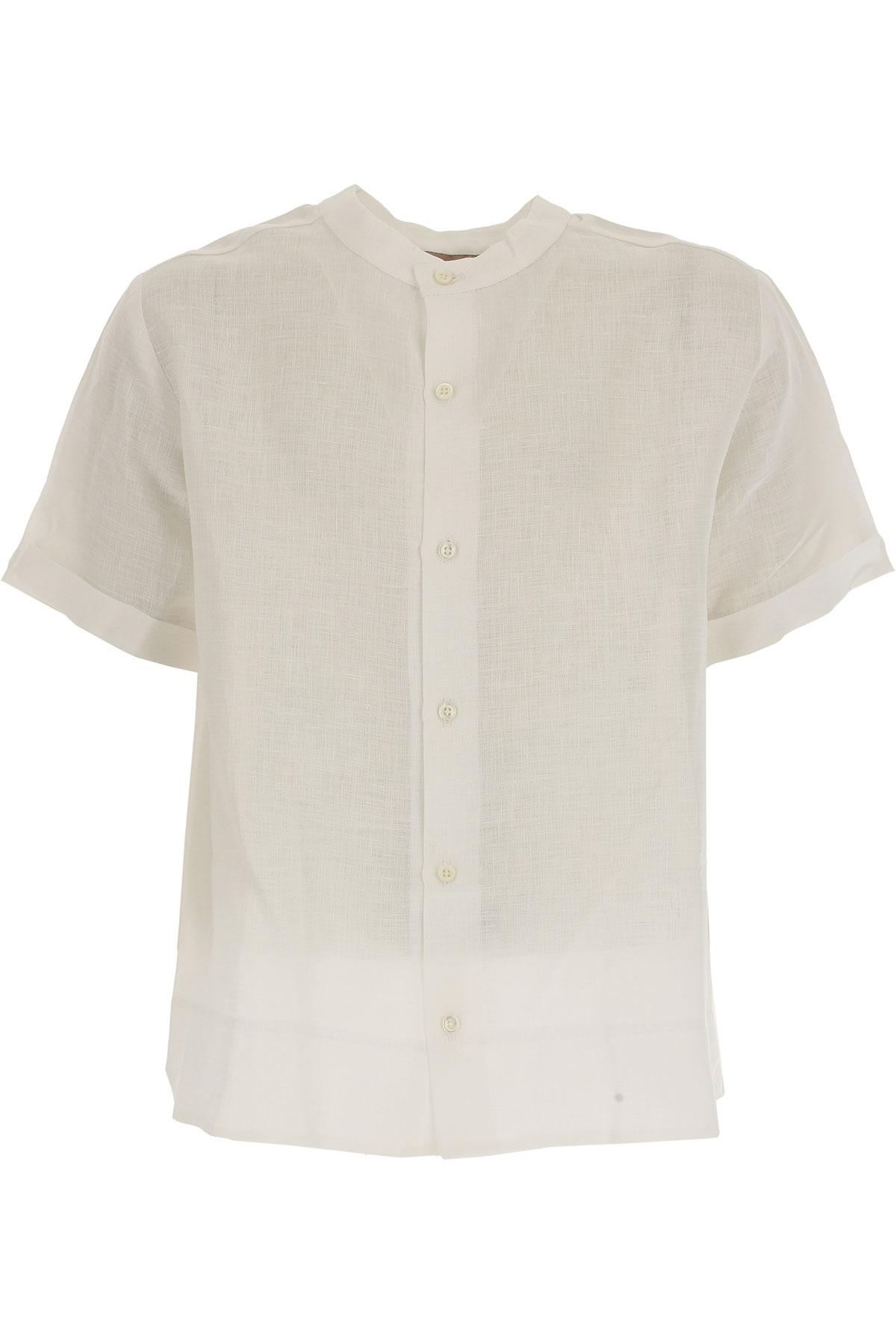 La Stupenderia Chemises Enfant pour Garçon Pas cher en Soldes Outlet, Blanc, Lin, 2017, 12Y 4Y 7Y 8Y