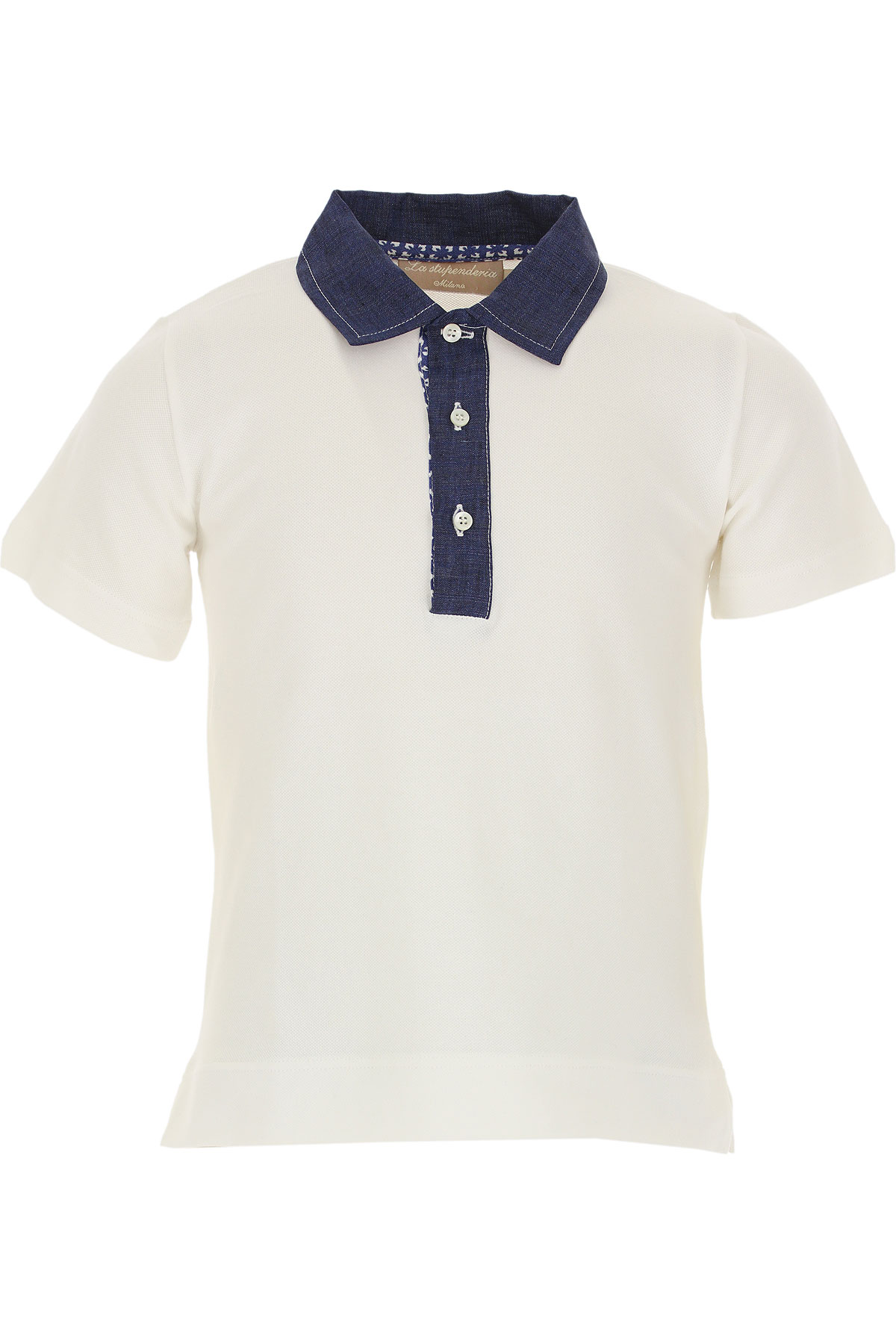 La Stupenderia Kids Polo Shirt for Boys On Sale in Outlet, White, Cotton, 2019, 12Y 3Y 4Y