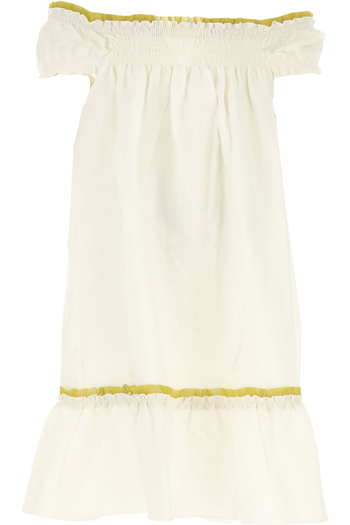 La Stupenderia Girls Dress On Sale in Outlet, White, linen, 2019, 2Y 6Y