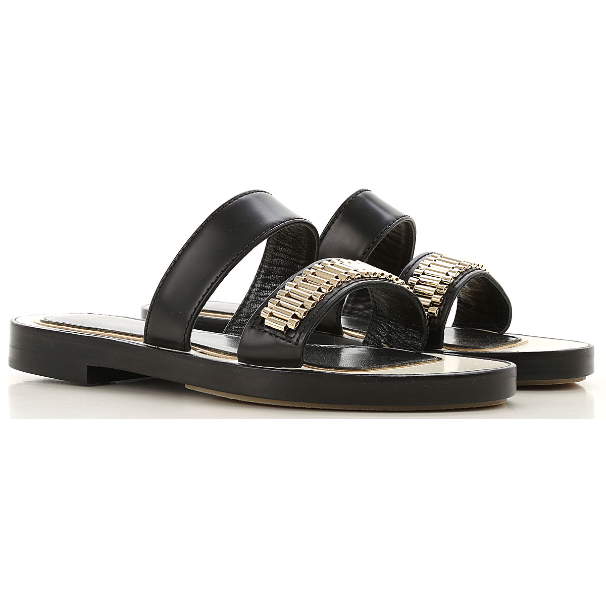 Lanvin Sandals for Women On Sale in Outlet, Black, Leather, 2019, 6 7