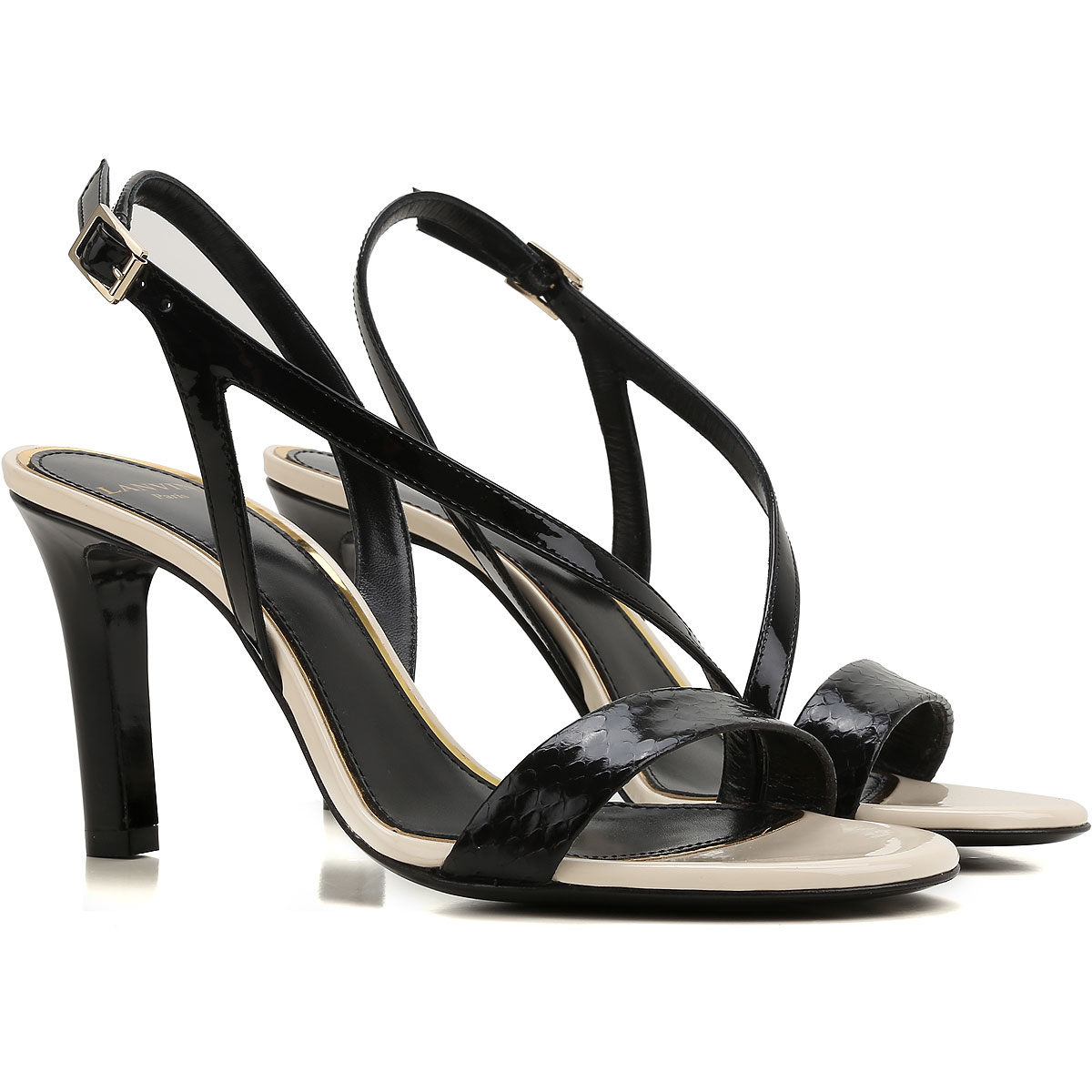 Lanvin Sandals for Women On Sale in Outlet, Black, Leather, 2019, 10 6 8.5