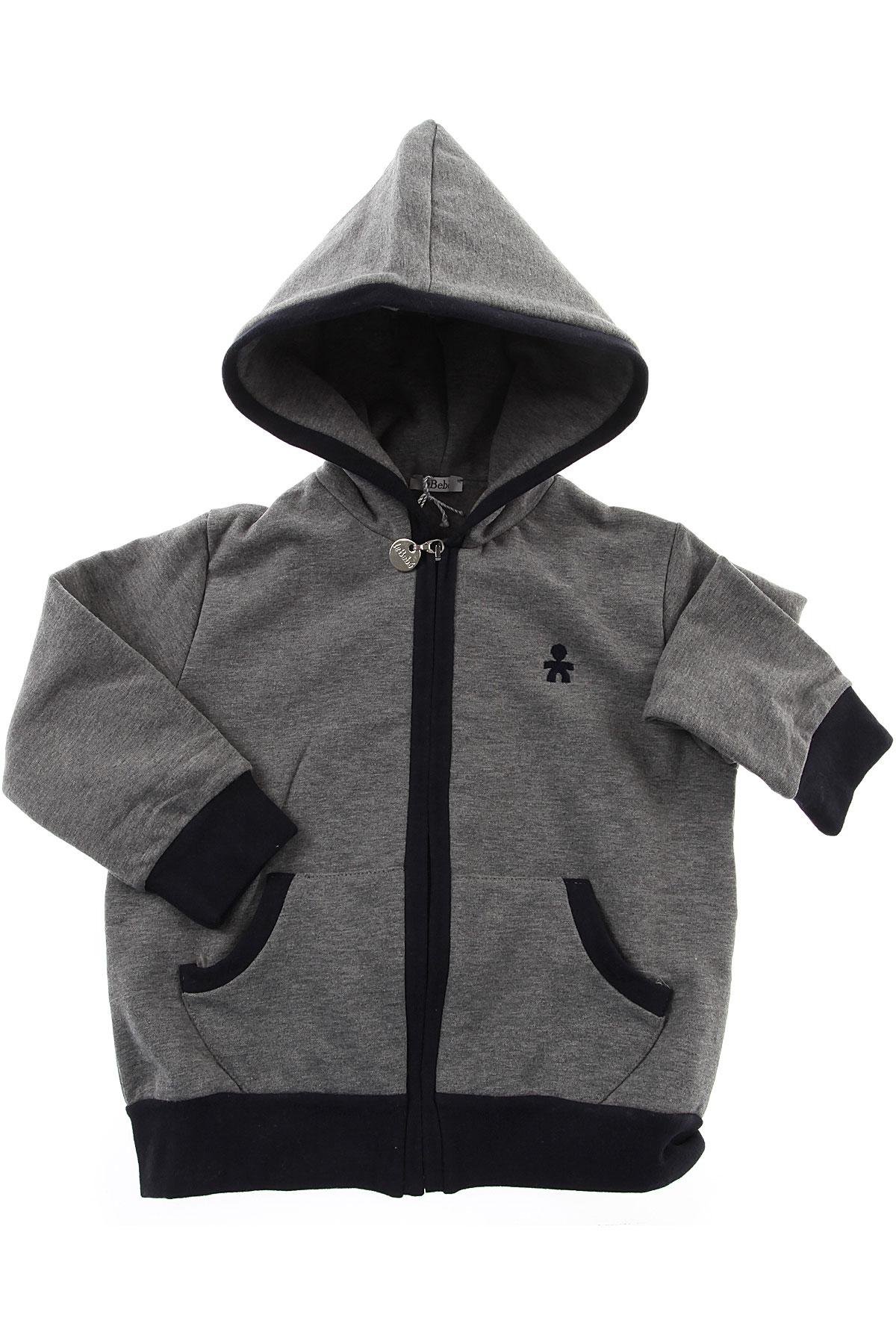 Image of Le Bebe Baby Sweatshirts & Hoodies for Boys, Grey Melange, Cotton, 2017, 12M 18M 6M 9M