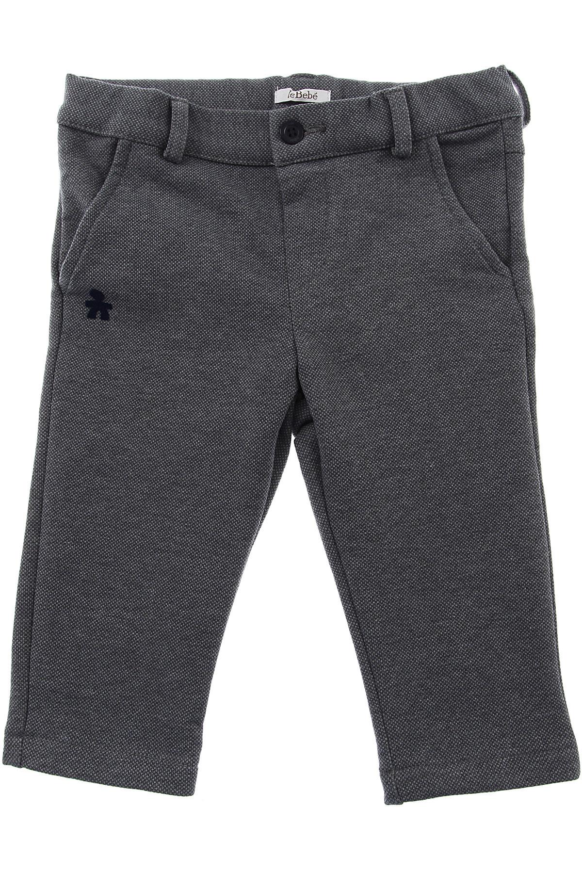 Image of Le Bebe Baby Pants for Boys, Grey, Cotton, 2017, 12M 18M 6M 9M