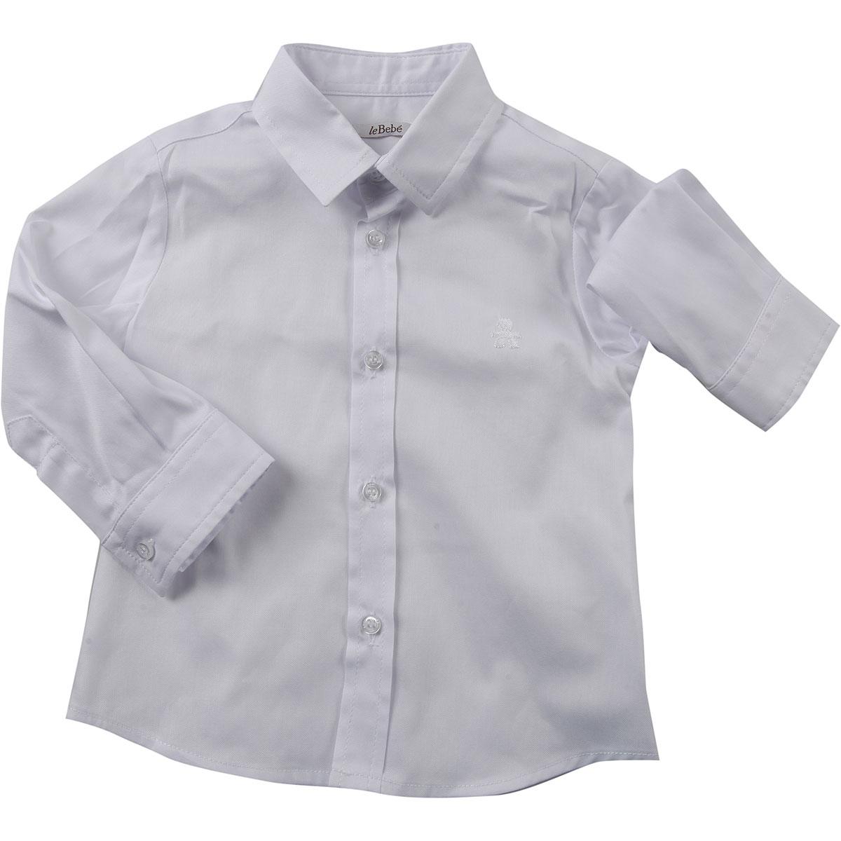 Le Bebe Chemises Bébé pour Garçon, Blanc, Coton, 2017, 12M 18M 6M 9M