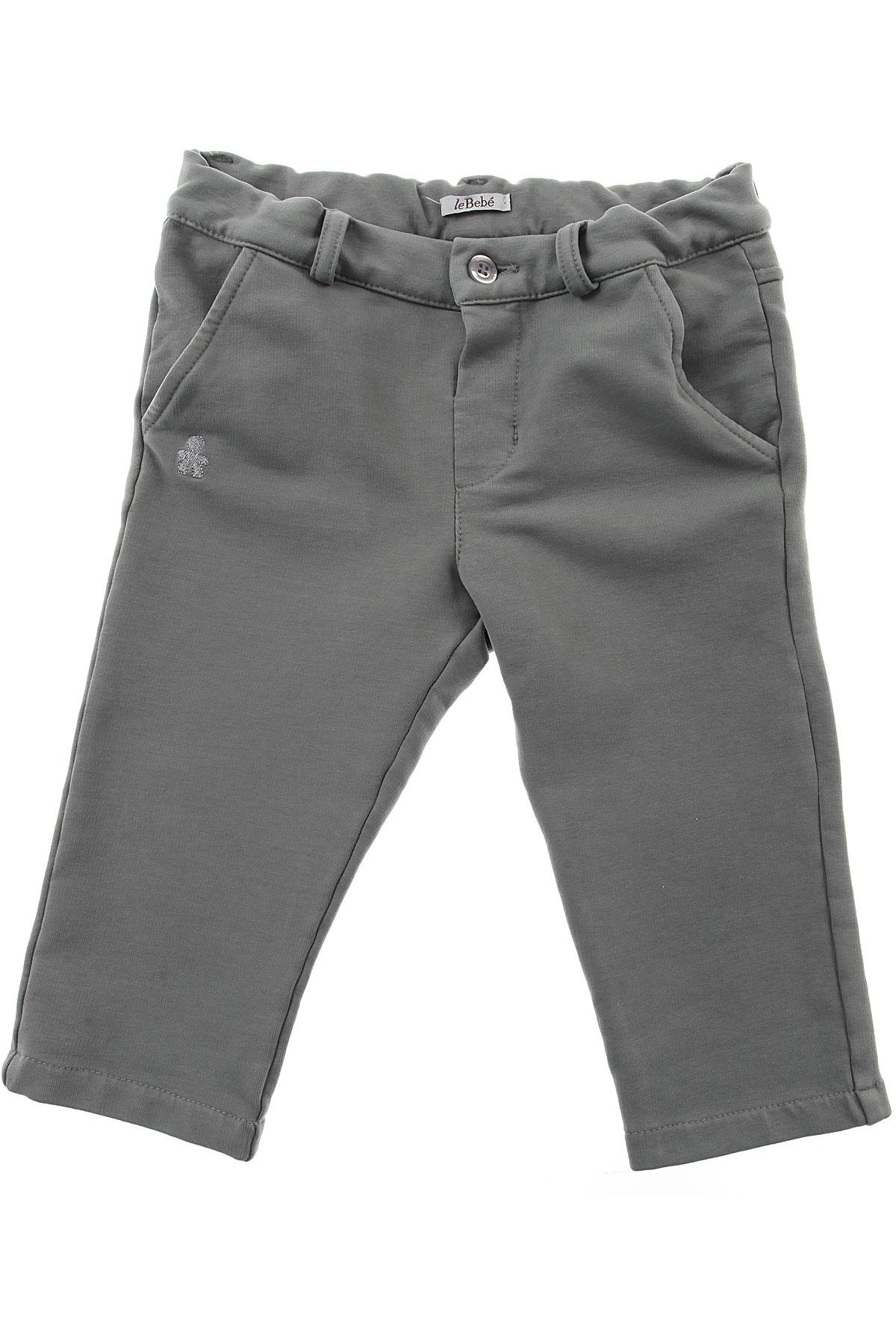Image of Le Bebe Baby Pants for Boys, Grey, Cotton, 2017, 12M 18M 3M 6M 9M